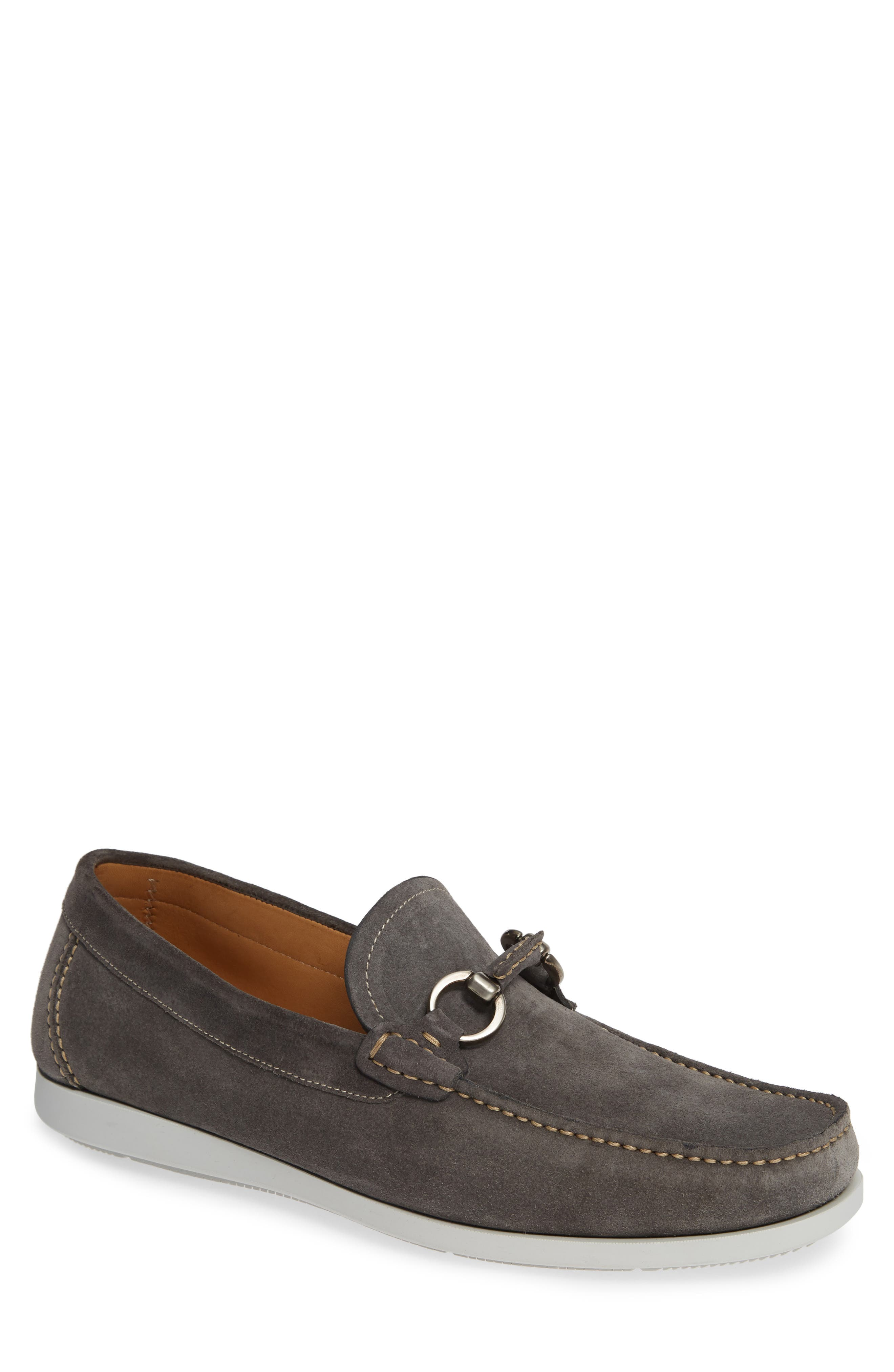 Marbella Bit Loafer,                             Main thumbnail 1, color,                             GREY SUEDE