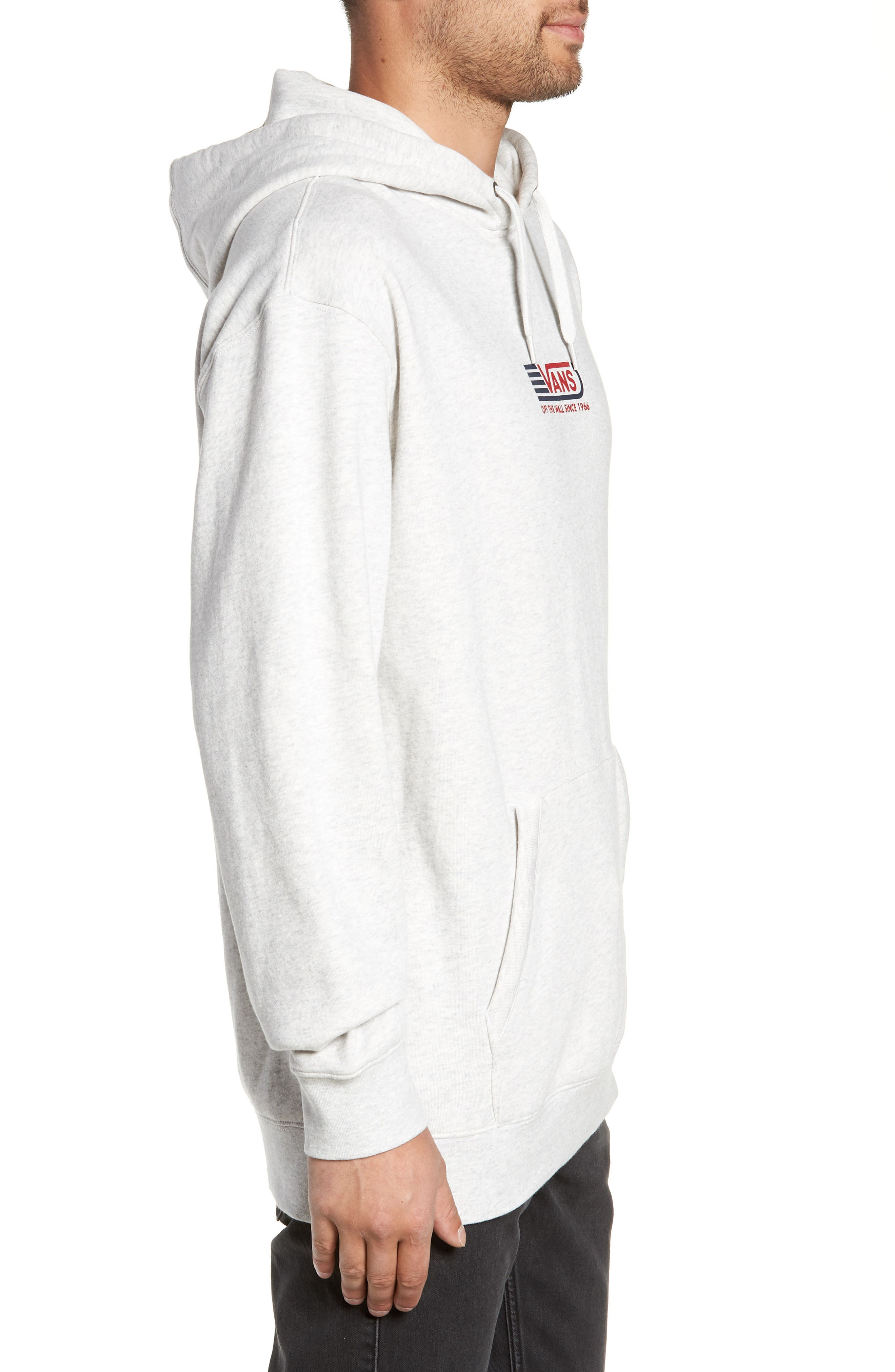 Blendline Oversize Pullover Hoodie,                             Alternate thumbnail 3, color,                             WHITE HEATHER