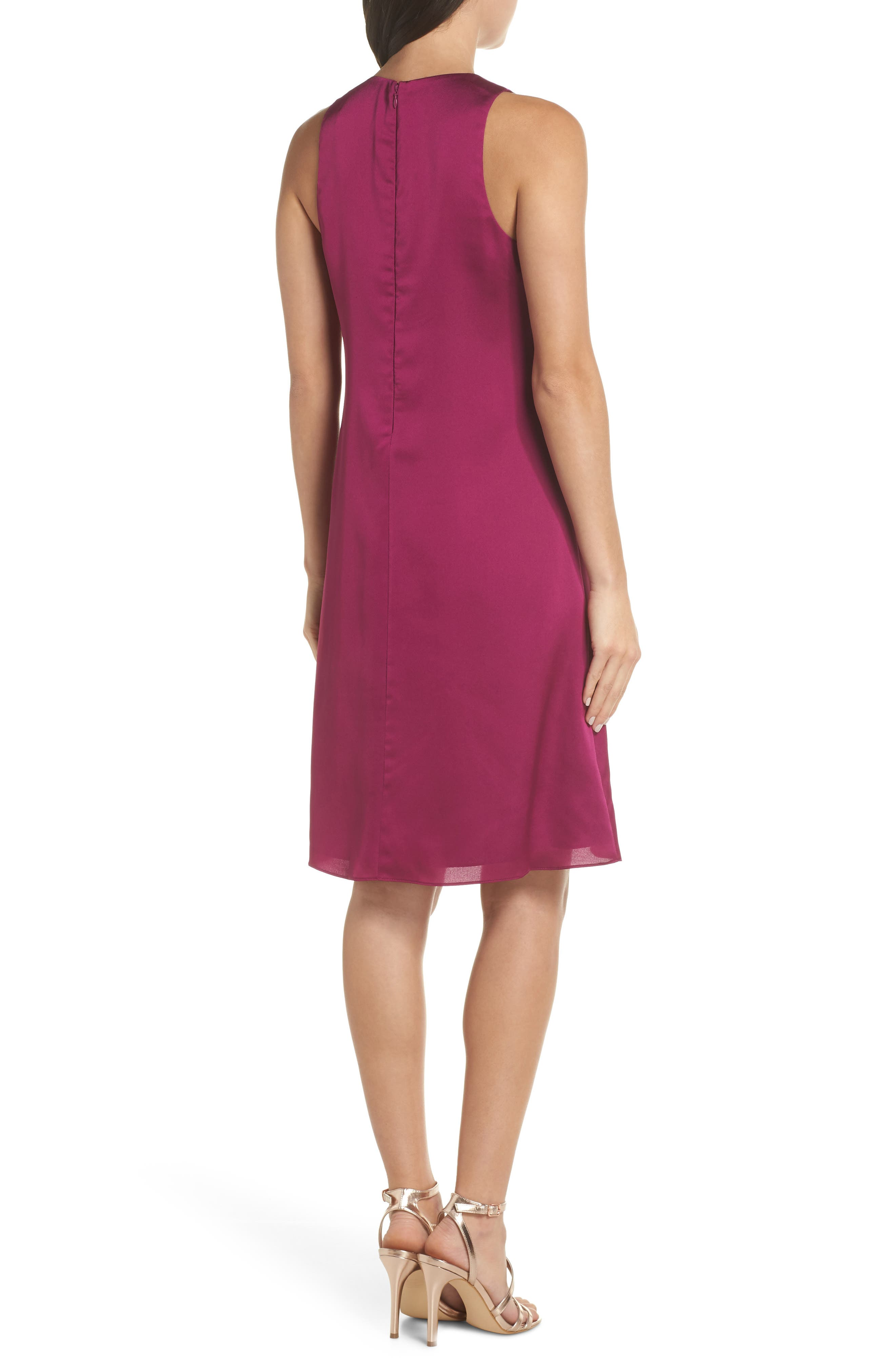 The Georgie Shift Dress,                             Alternate thumbnail 2, color,                             BERRY