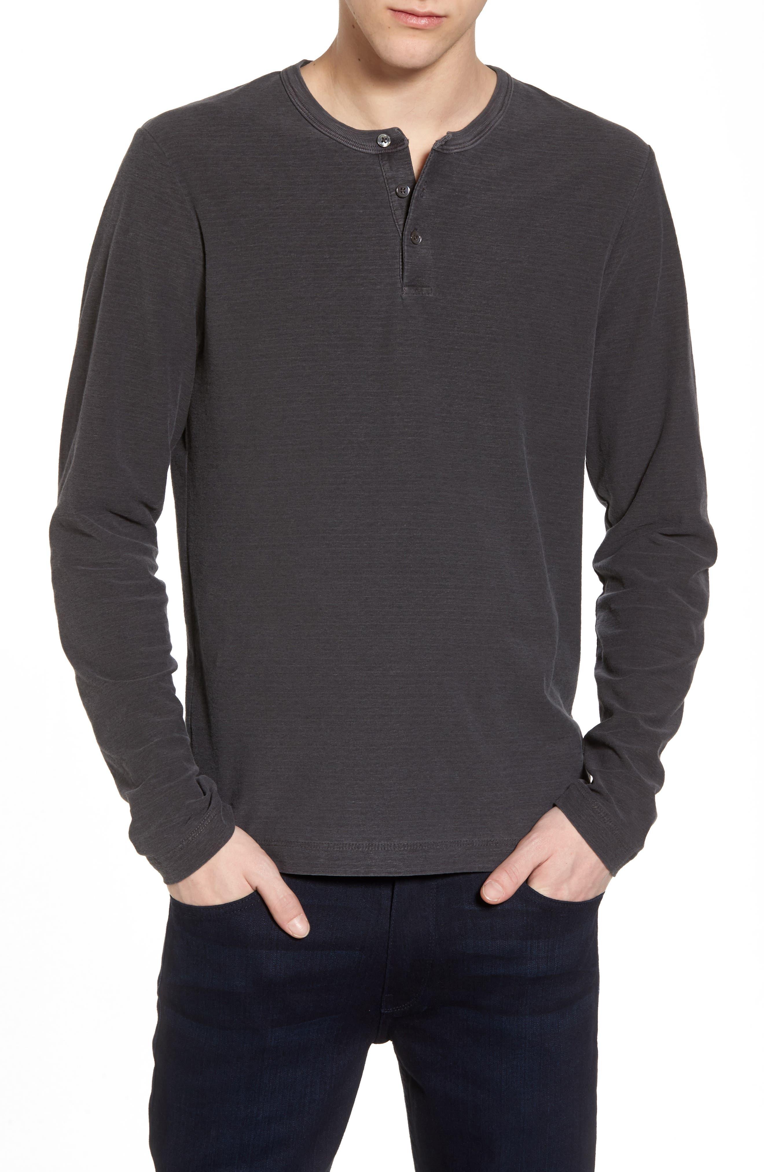 Regular Fit Micro Stripe Henley Shirt,                         Main,                         color, 020
