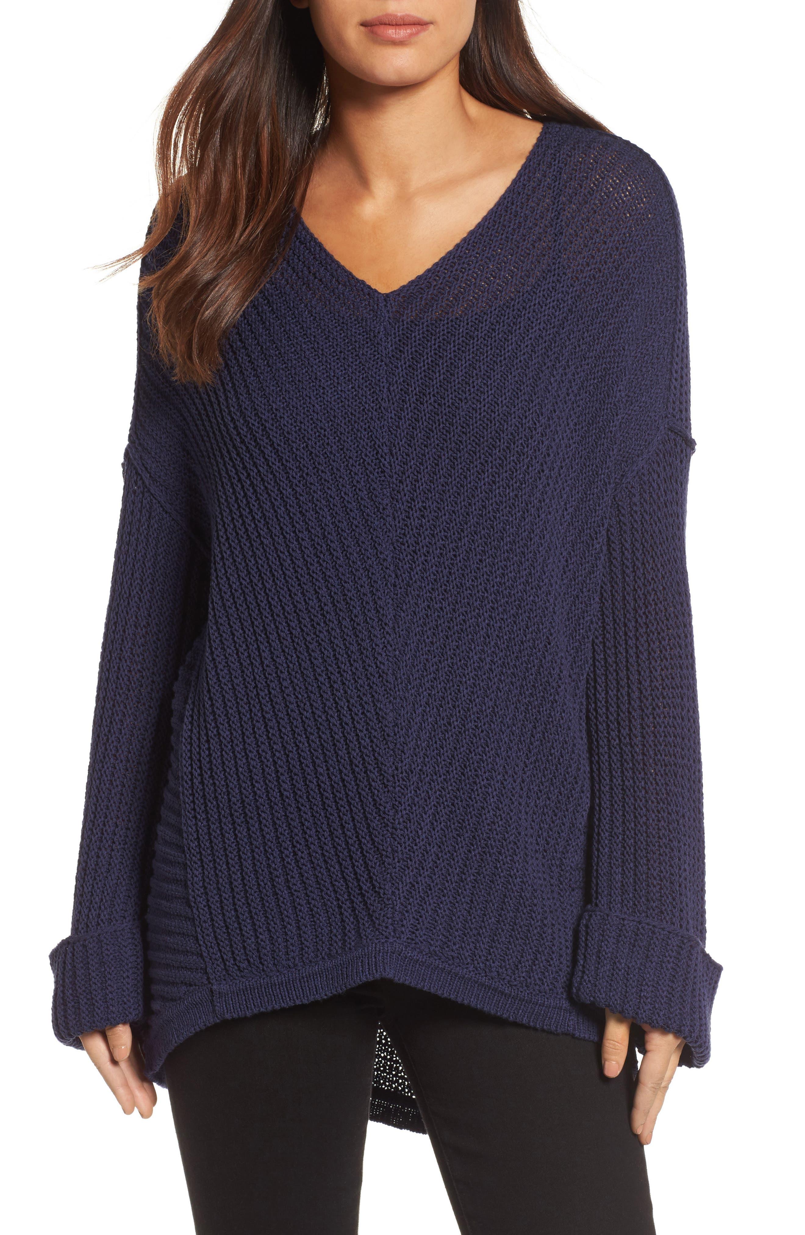 Cuffed Sleeve Sweater,                             Main thumbnail 1, color,
