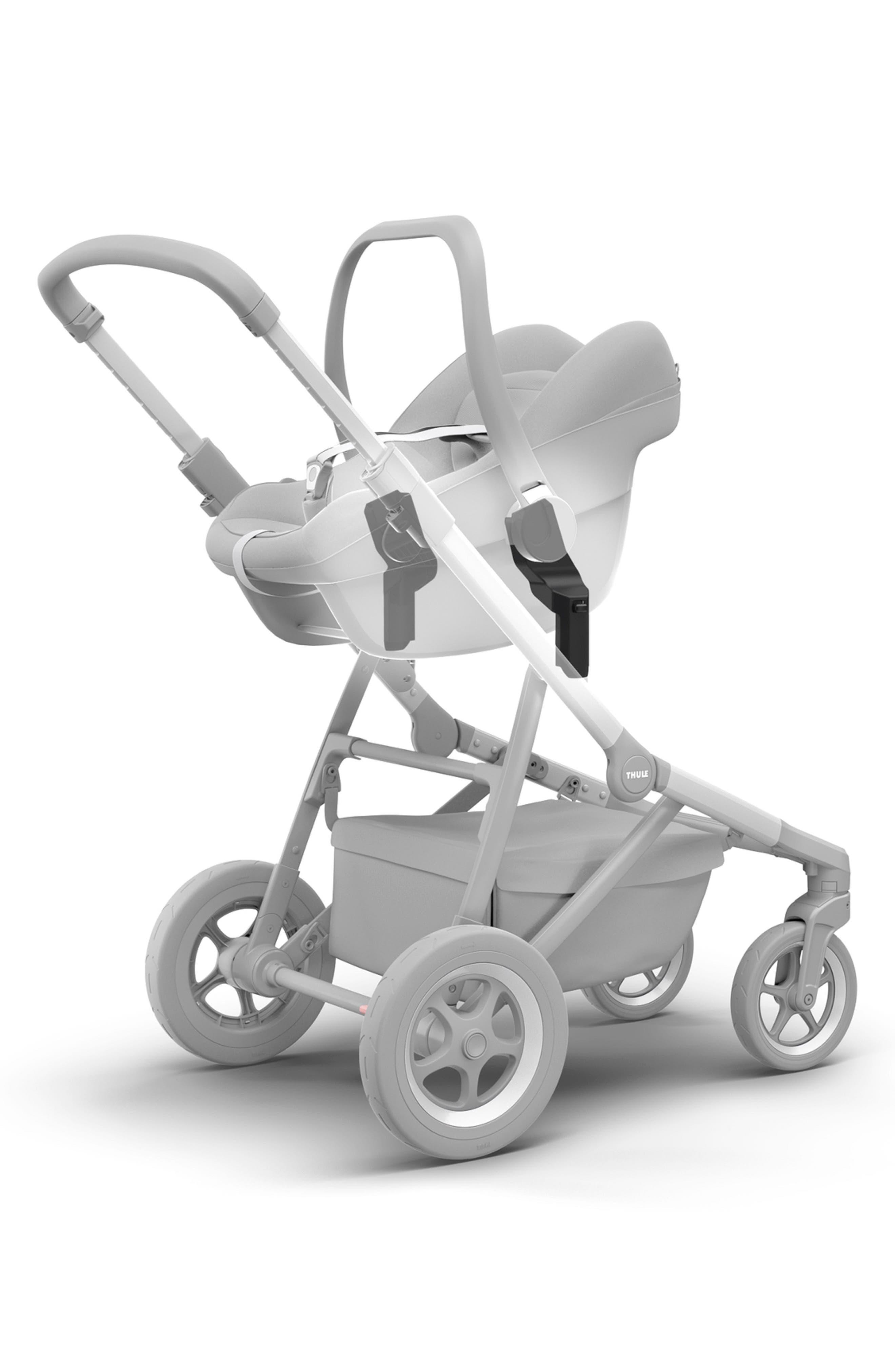 Sleek Stroller to Maxi-Cosi<sup>®</sup>/nuna/CYBEX/BeSafe<sup>®</sup> Infant Car Seat Adapter Set,                             Alternate thumbnail 2, color,                             BLACK