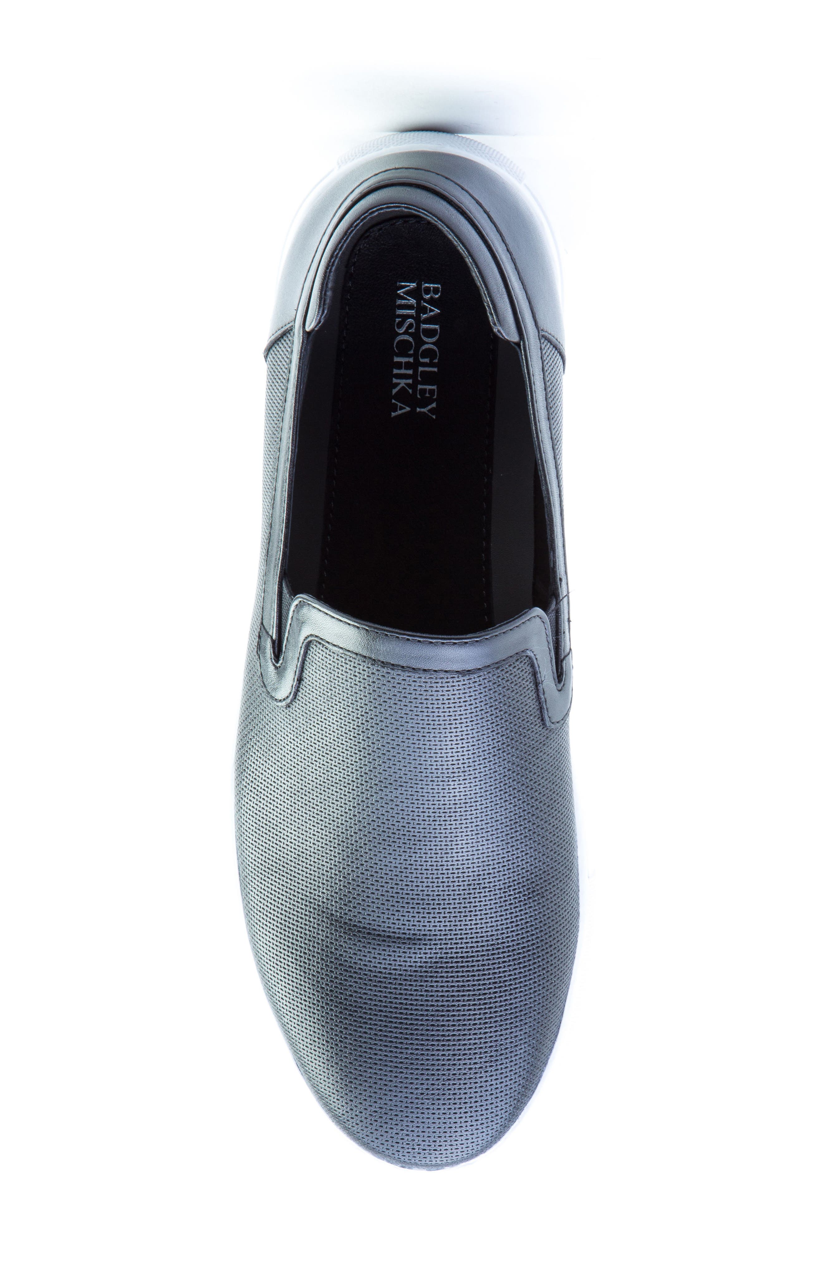 Grant Sneaker,                             Alternate thumbnail 5, color,                             BLACK LEATHER