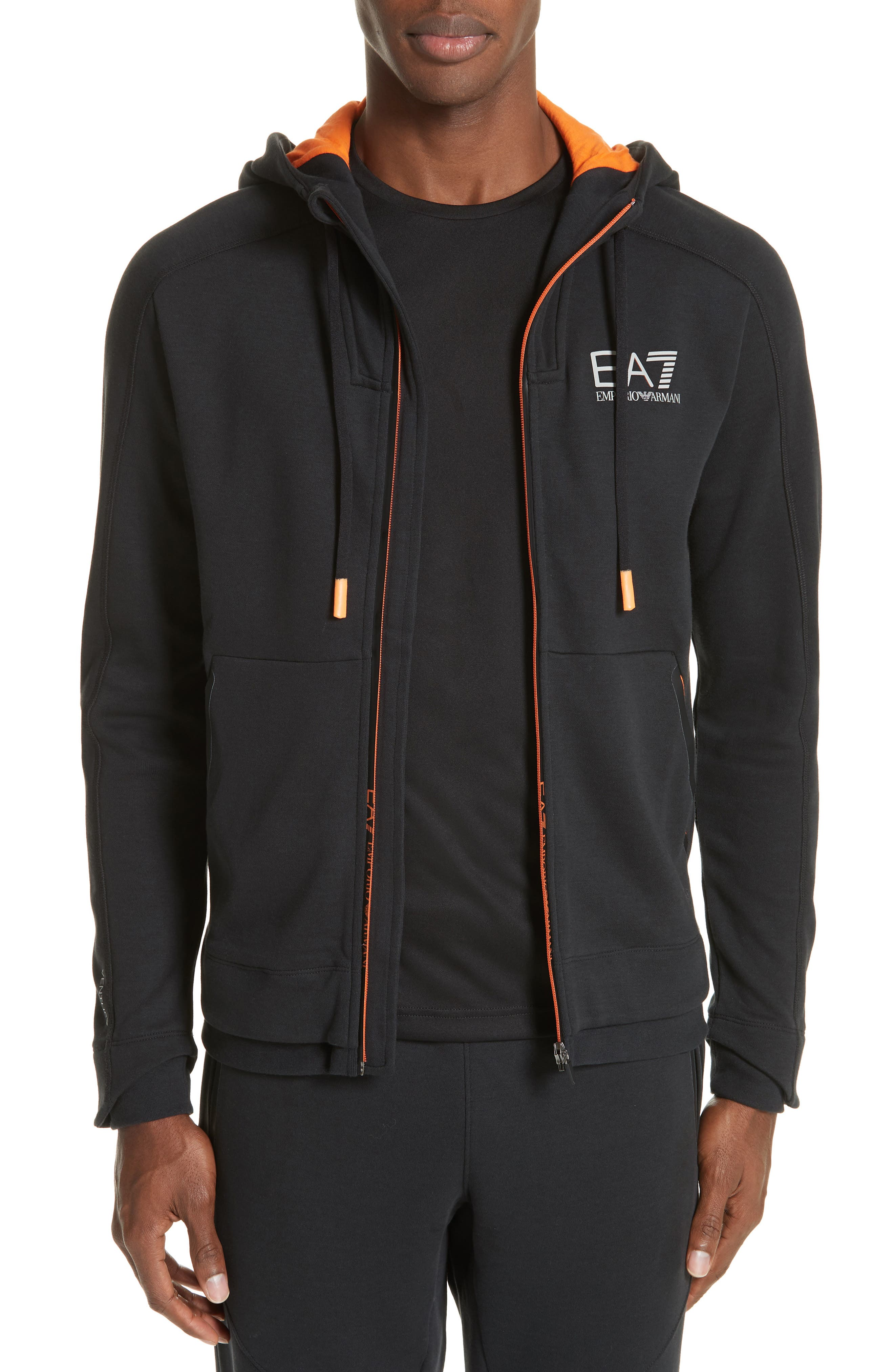 Ventus Zip Hoodie,                         Main,                         color, BLACK