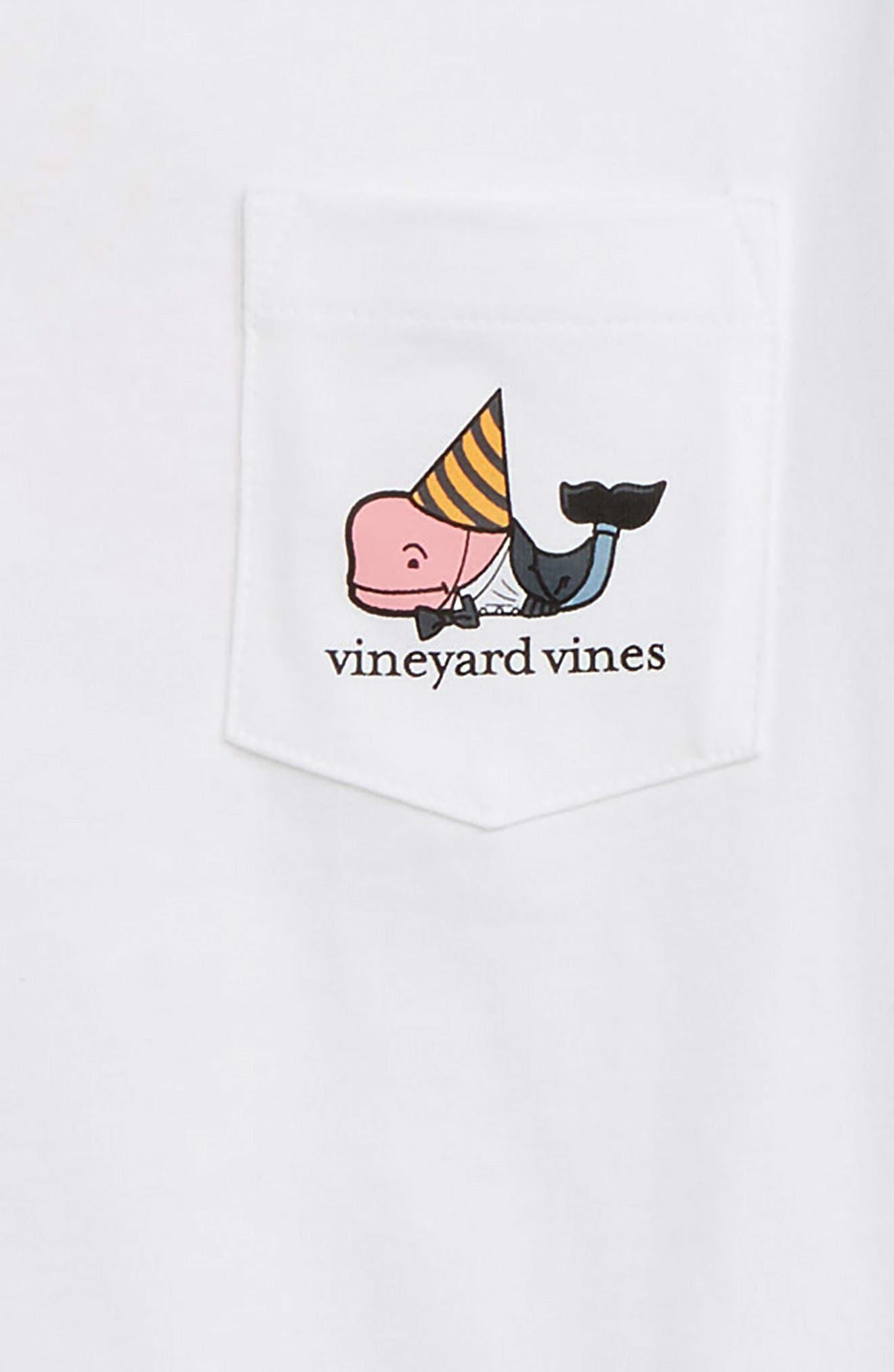 Dapper New Years Pocket T-Shirt,                             Alternate thumbnail 3, color,                             WHITE CAP