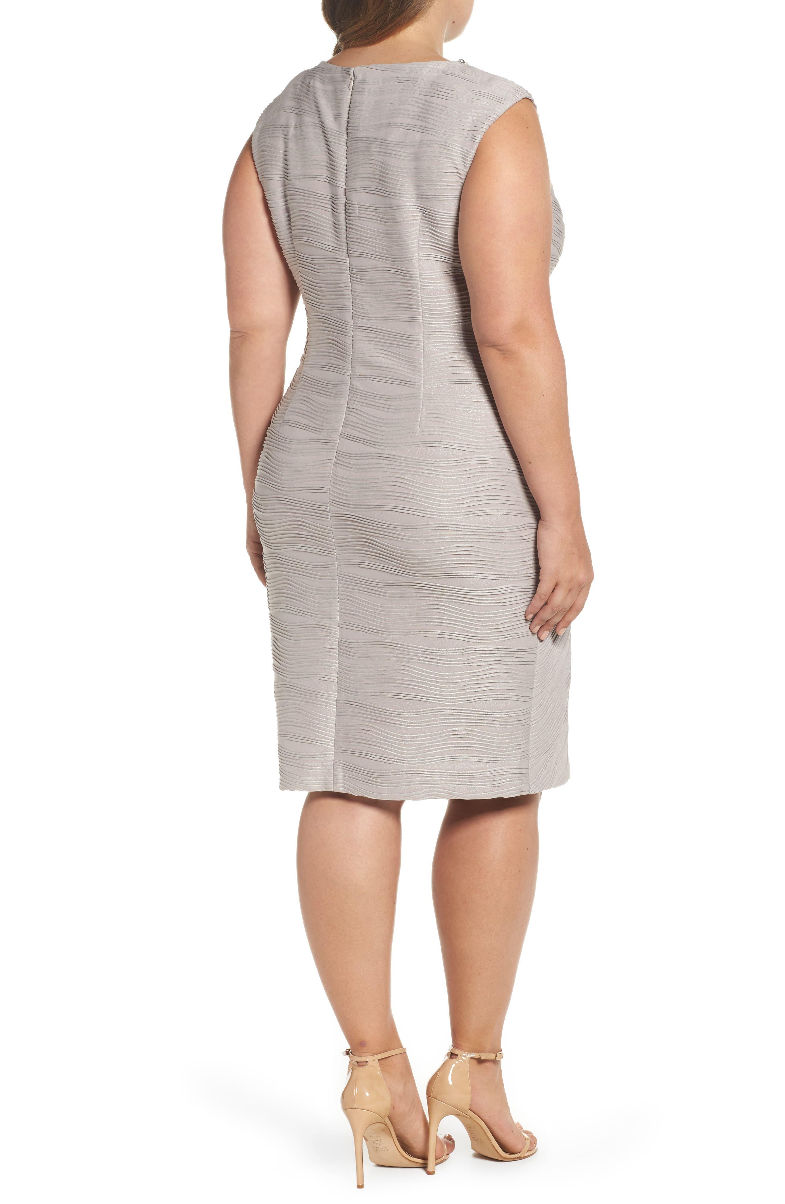 Embellished Neckline Sheath Dress,                             Alternate thumbnail 2, color,                             256