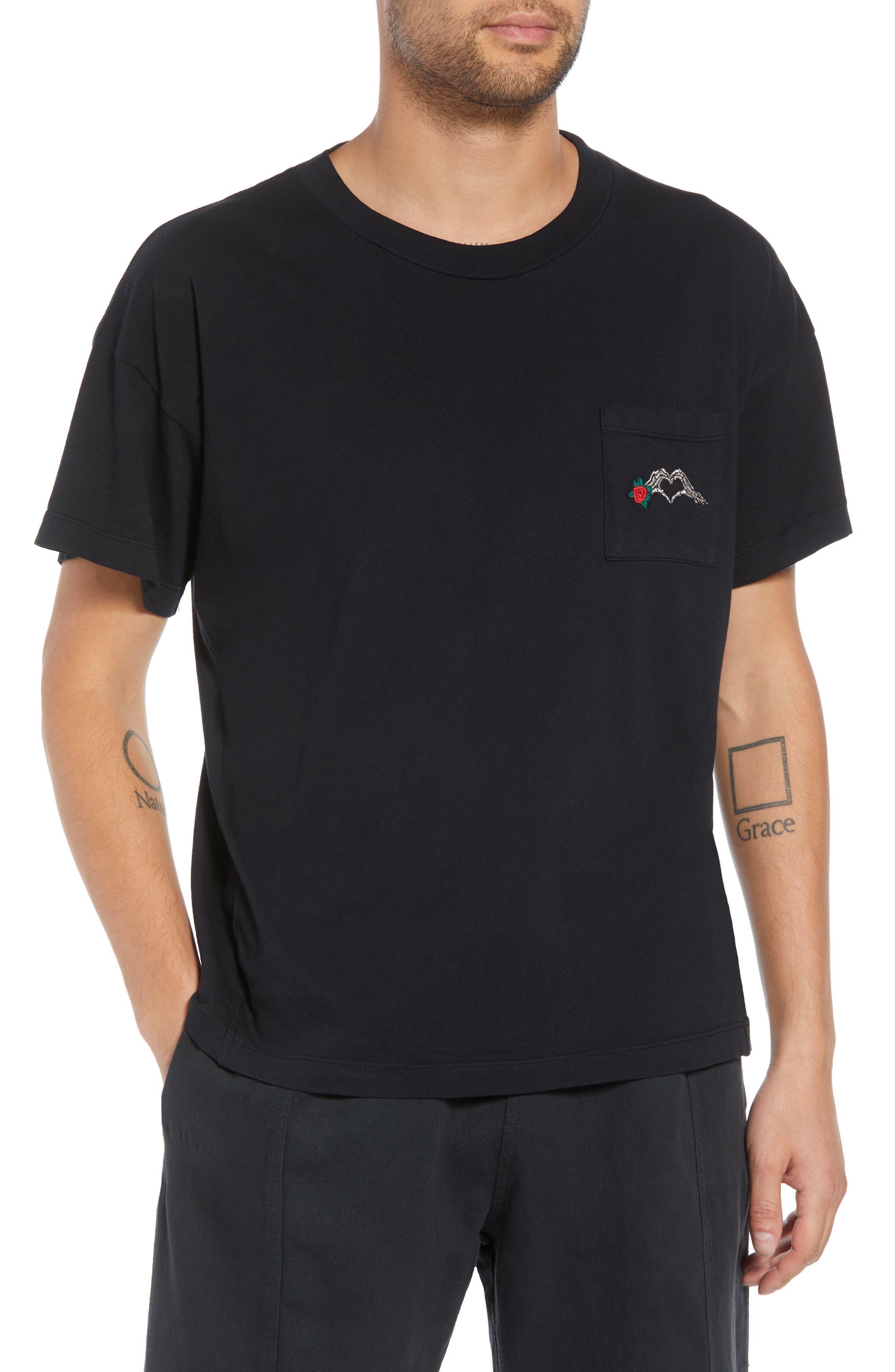Hayes T-Shirt,                         Main,                         color, BLACK