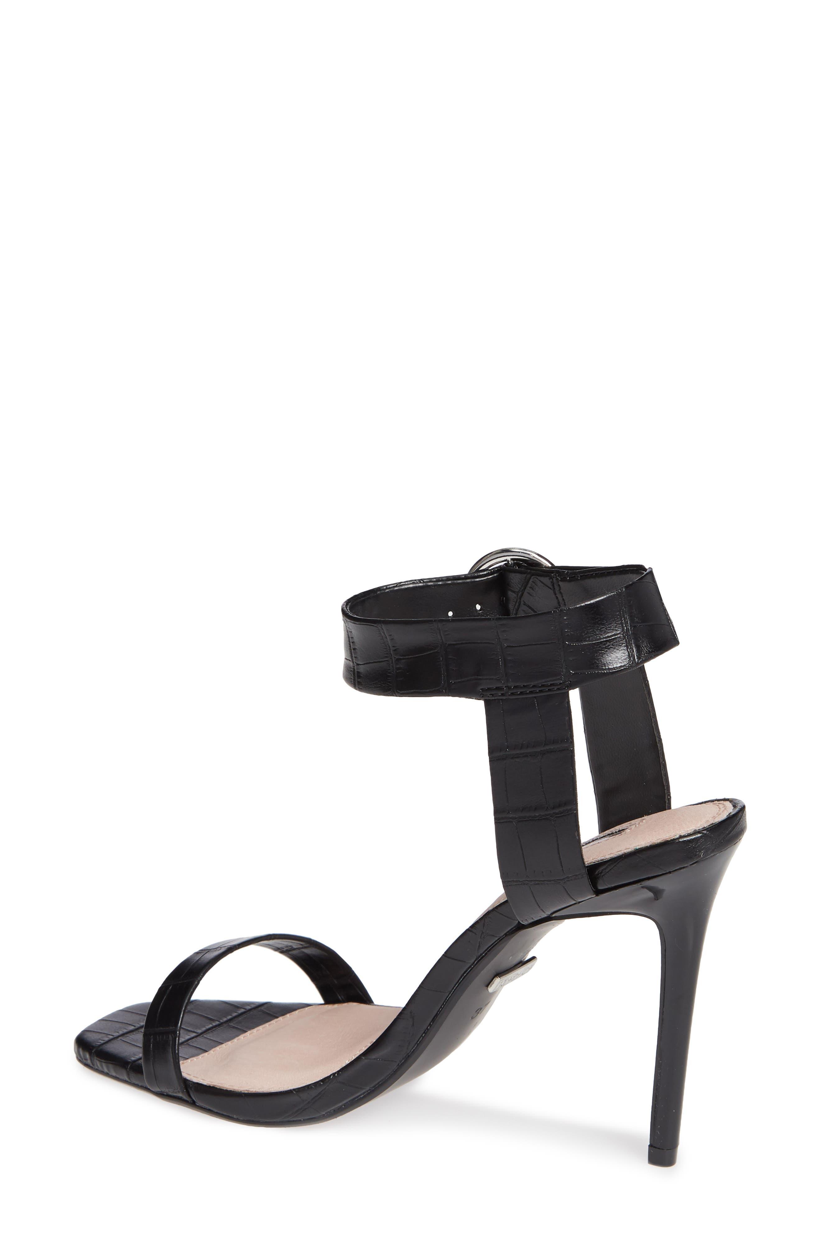 Ria Ankle Cuff Sandal,                             Alternate thumbnail 2, color,                             BLACK