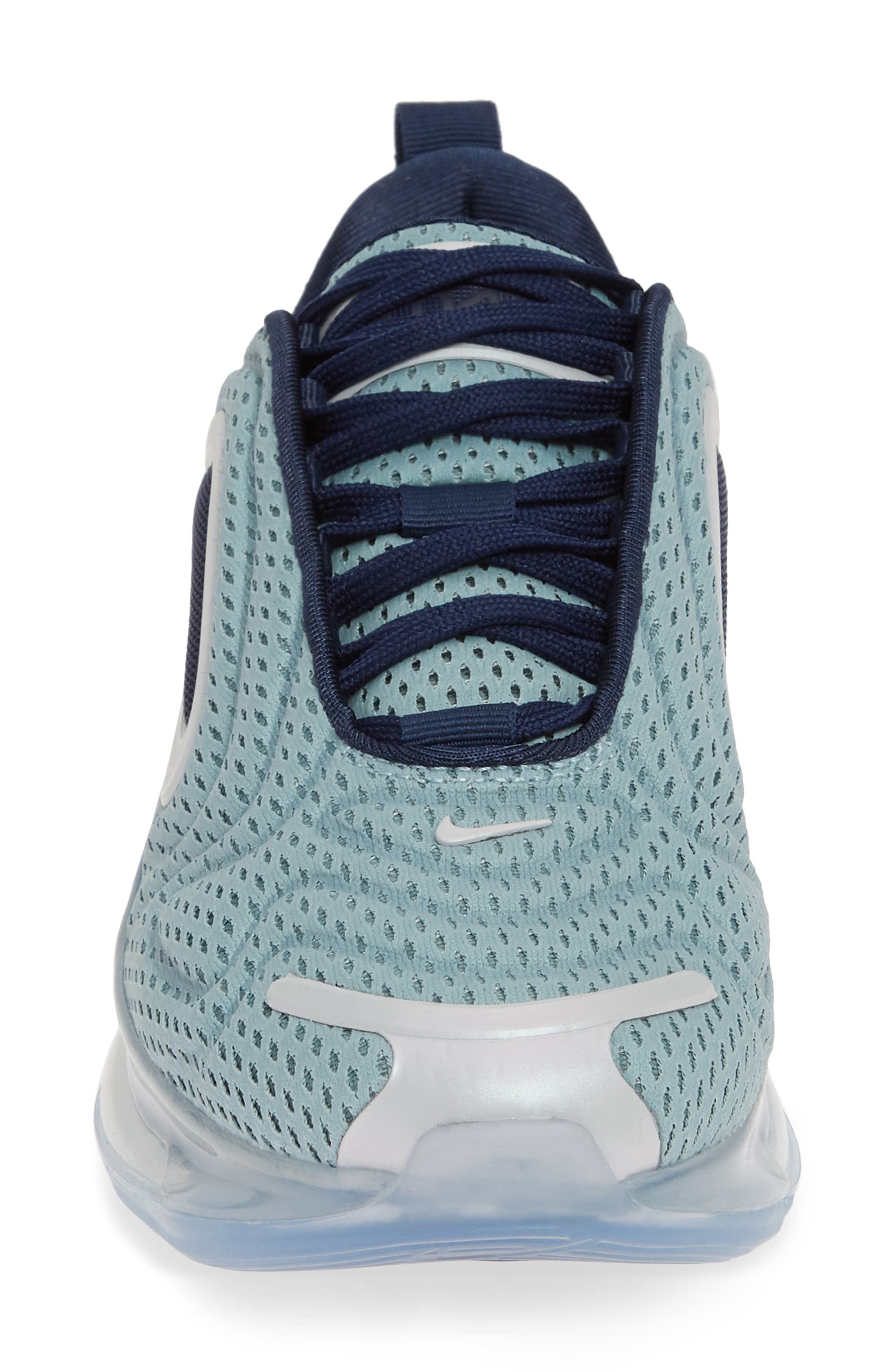 Air Max 720 Sneaker,                             Alternate thumbnail 4, color,                             METALLIC SILVER/ MIDNIGHT NAVY