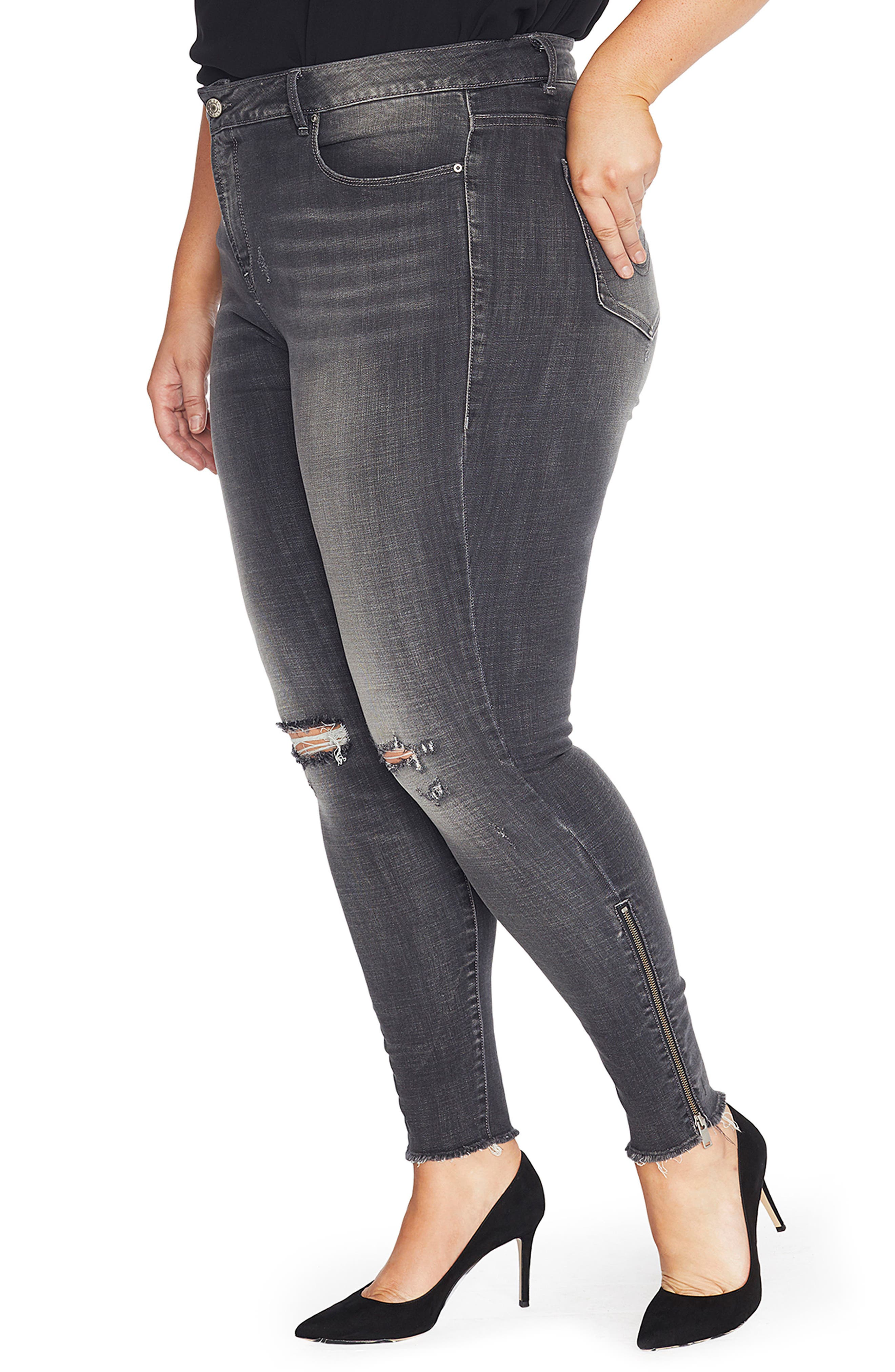 The Icon High Rise Super Skinny Jeans,                             Alternate thumbnail 3, color,                             073