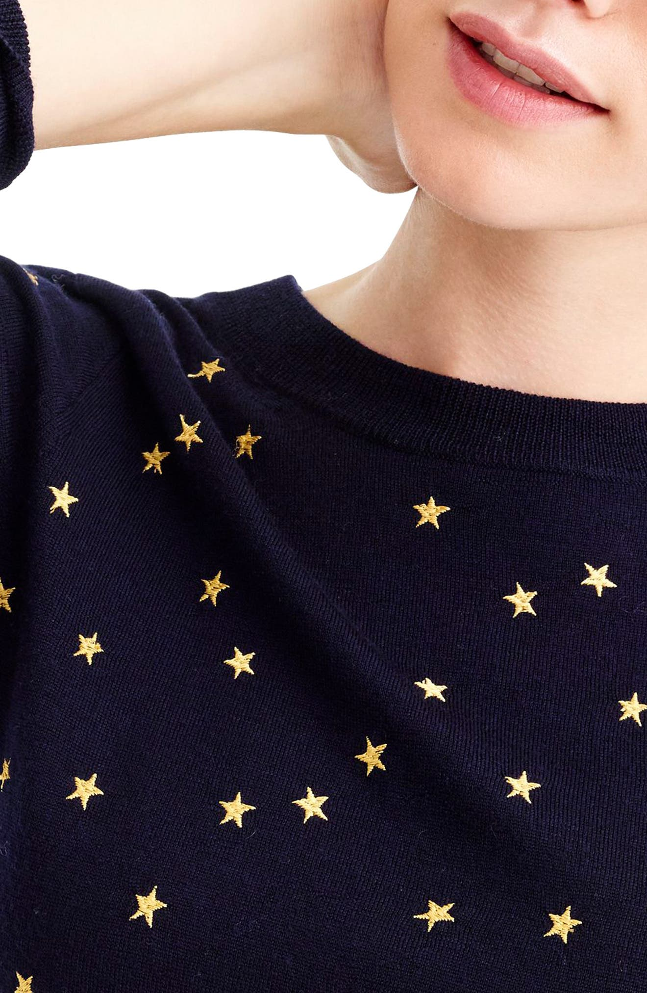 Tippi Embroidered Stars Sweater,                             Alternate thumbnail 3, color,                             400