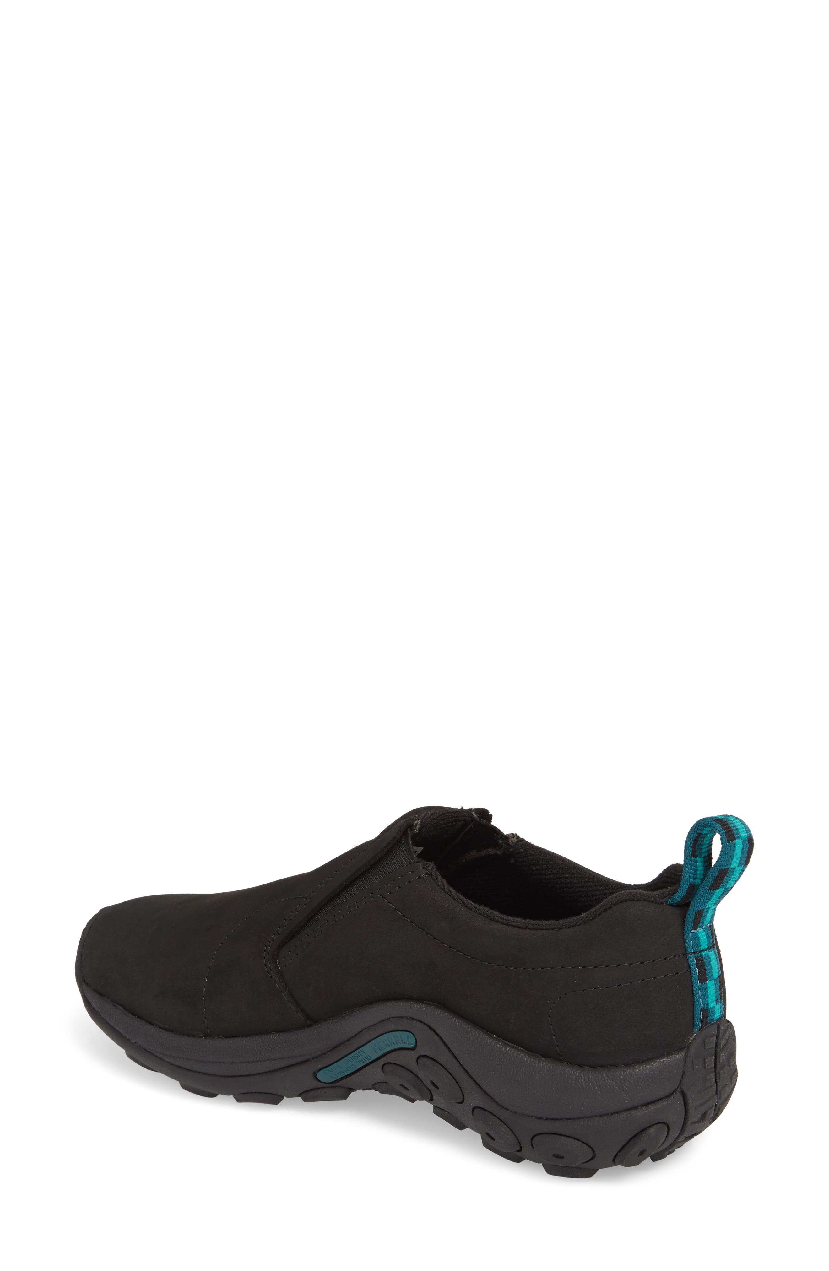 Jungle Moc Nubuck Sneaker,                             Alternate thumbnail 2, color,                             BLACK LEATHER