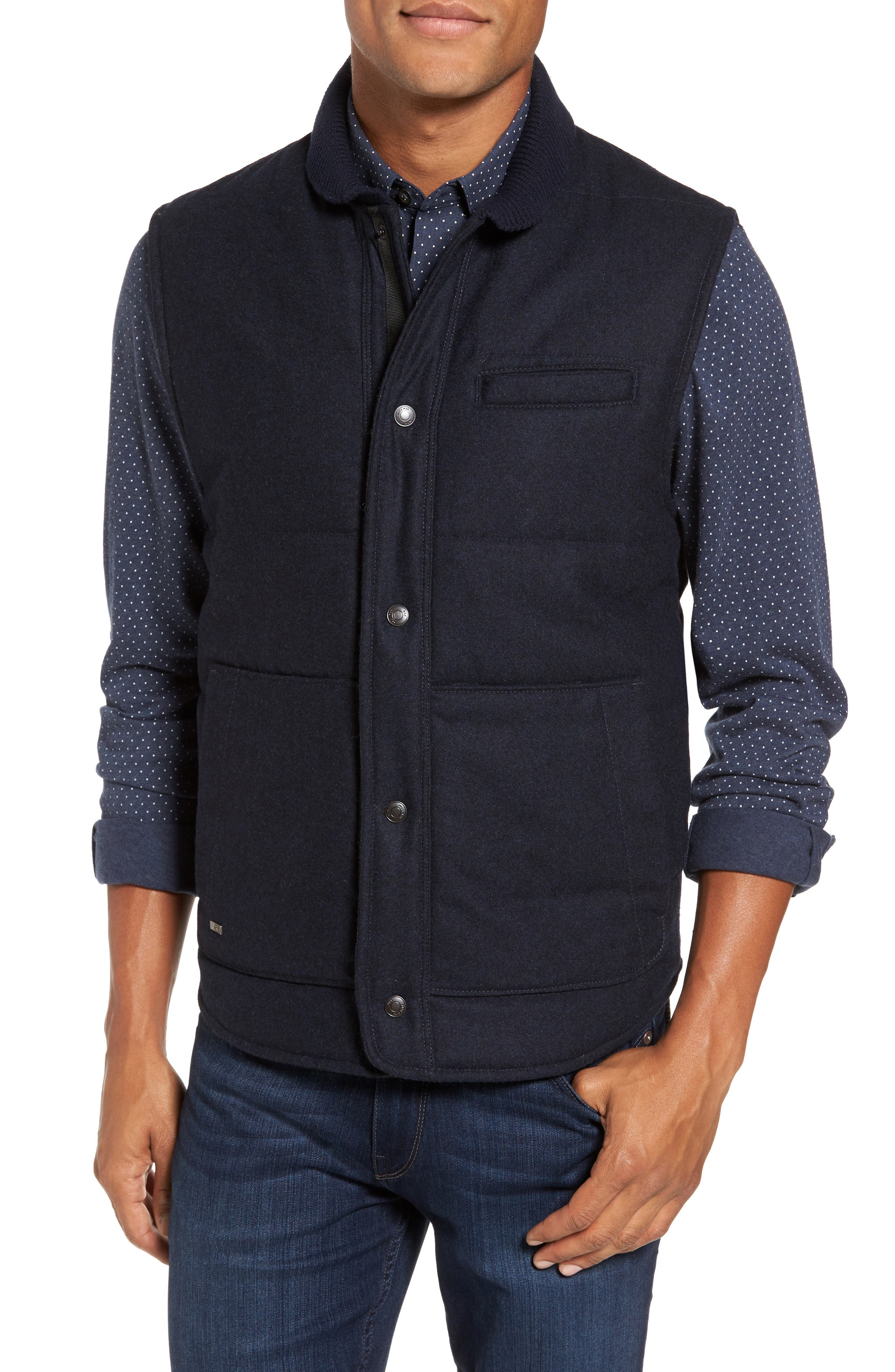 Quilted Work Vest,                         Main,                         color, 410