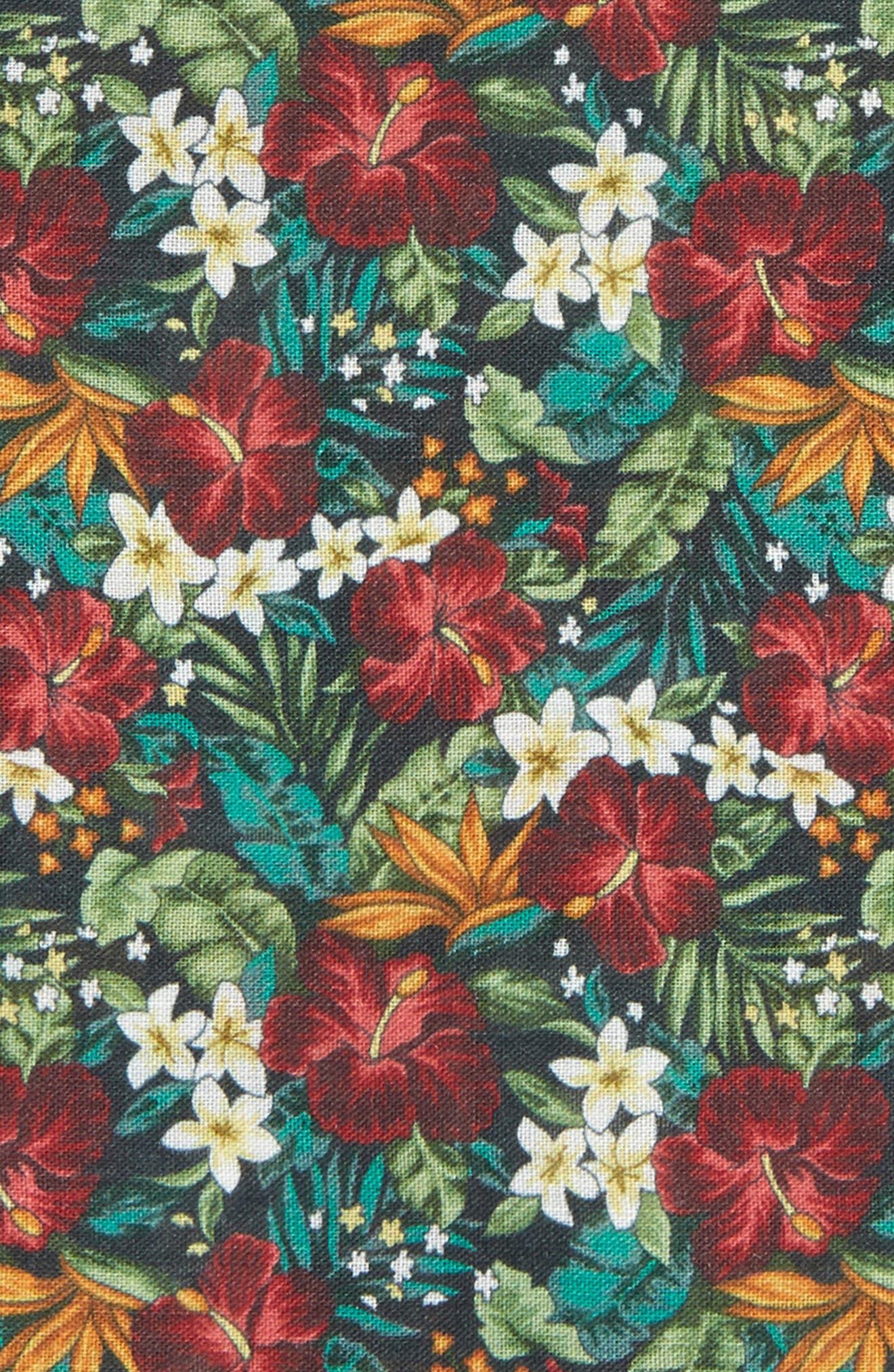 Tropic Fever Linen Pocket Square,                             Alternate thumbnail 3, color,                             001