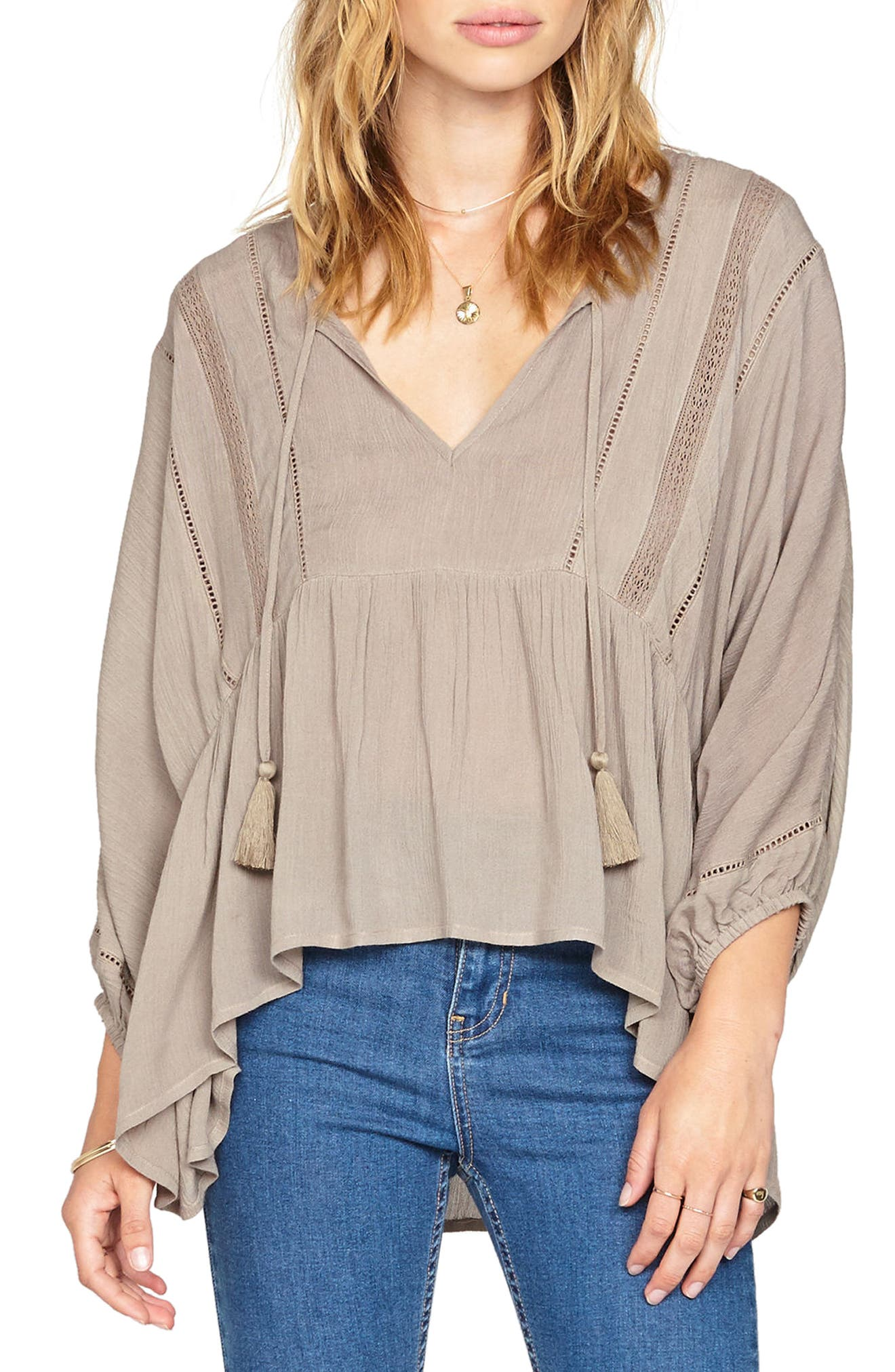 Cool Breeze Woven Top,                         Main,                         color, 020
