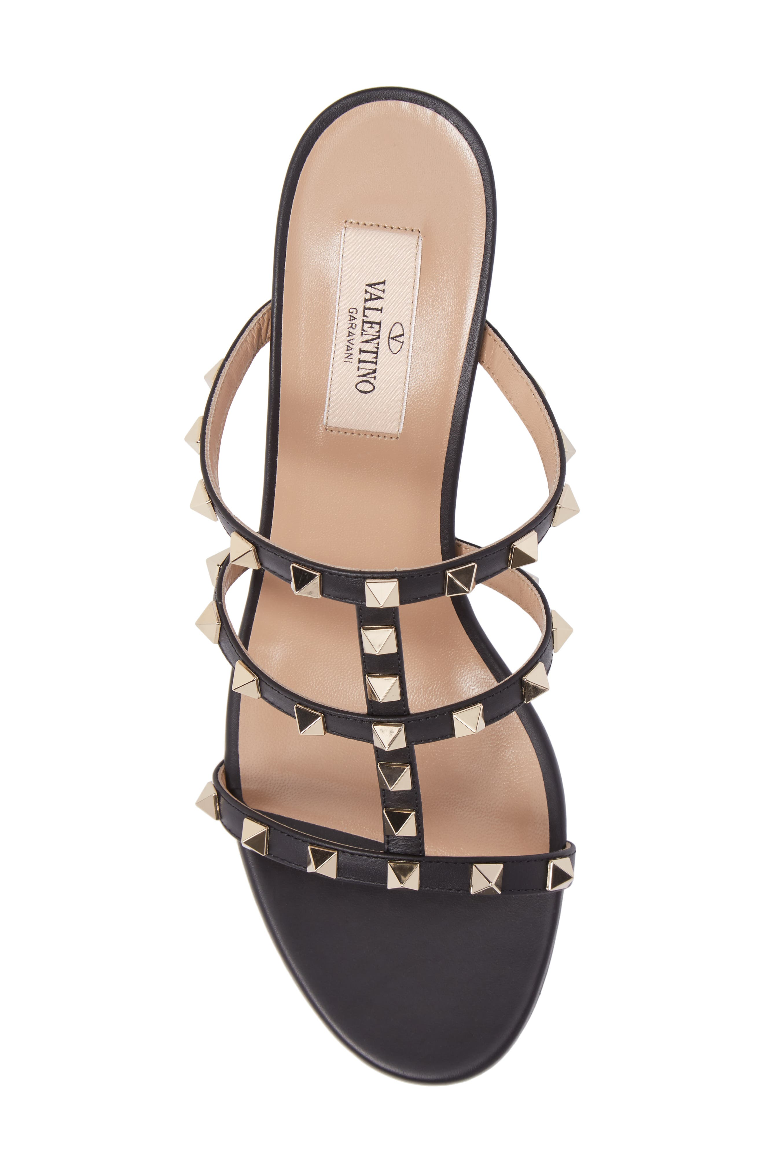 Rockstud Slide Sandal,                             Alternate thumbnail 5, color,                             002