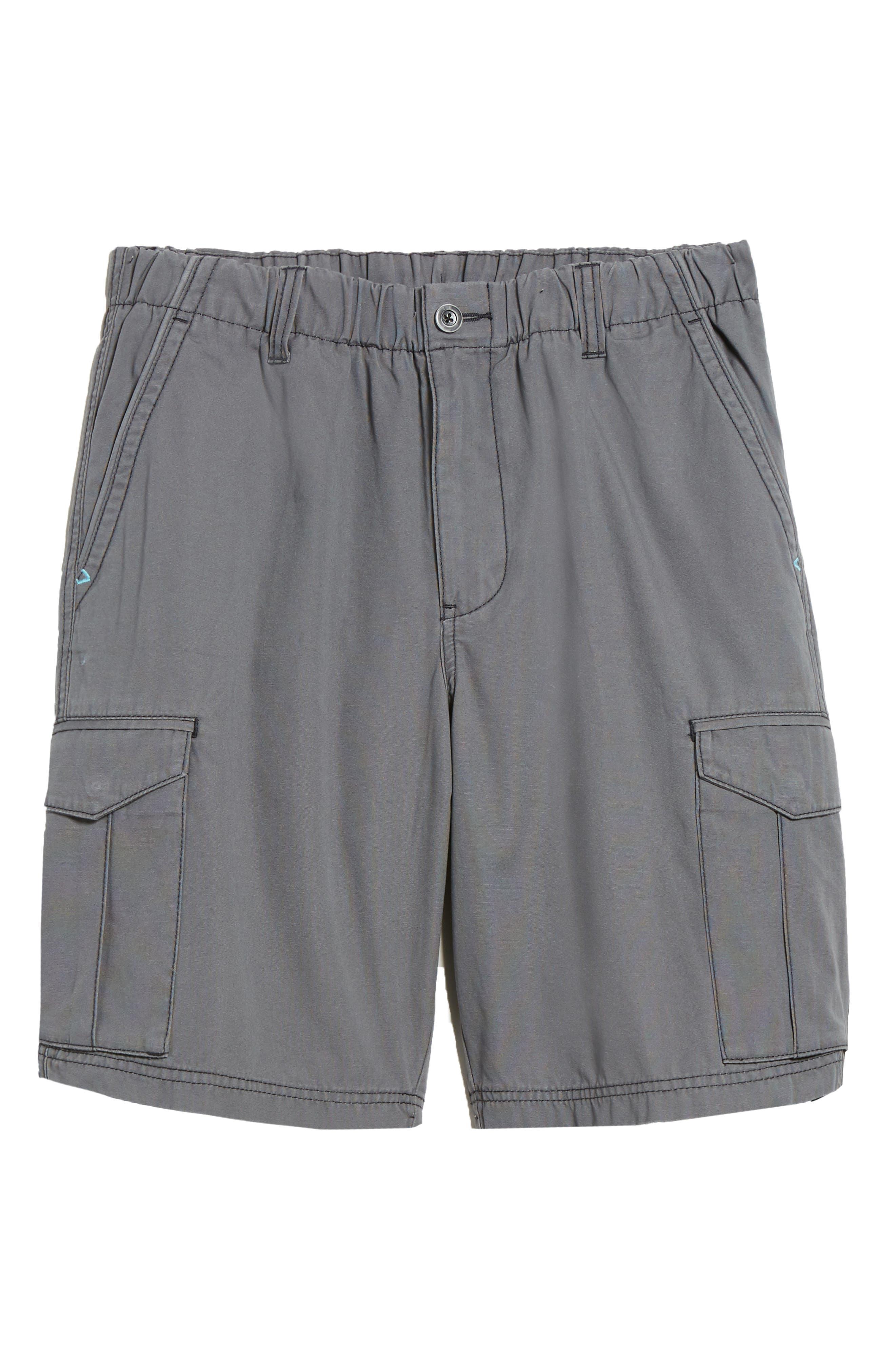 Island Survivalist Cargo Shorts,                             Alternate thumbnail 6, color,                             FOG GREY
