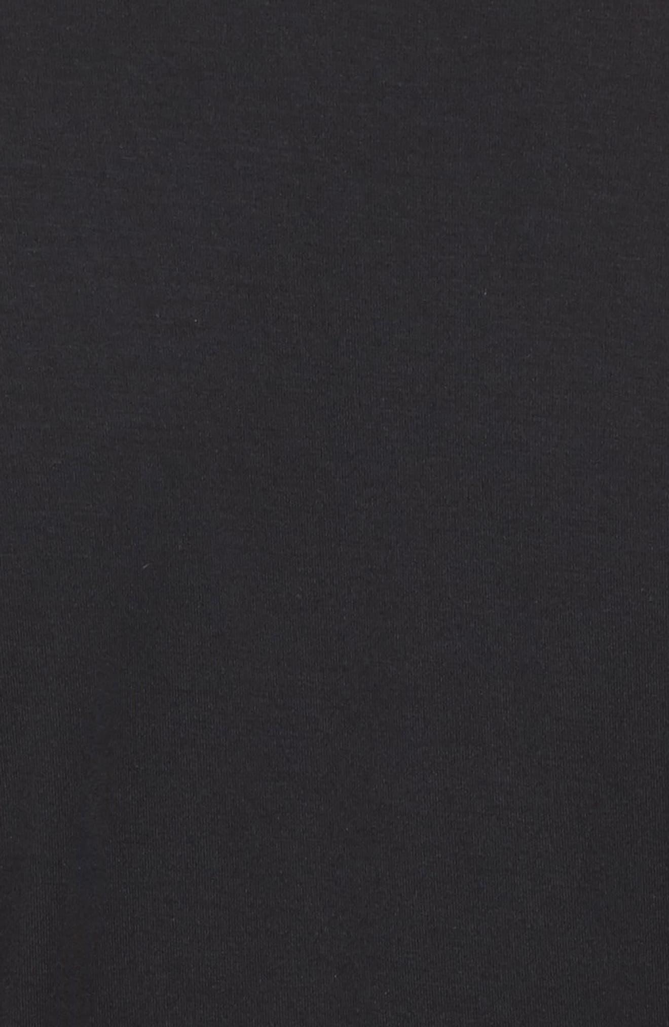 Short Robe,                             Alternate thumbnail 5, color,                             BLACK