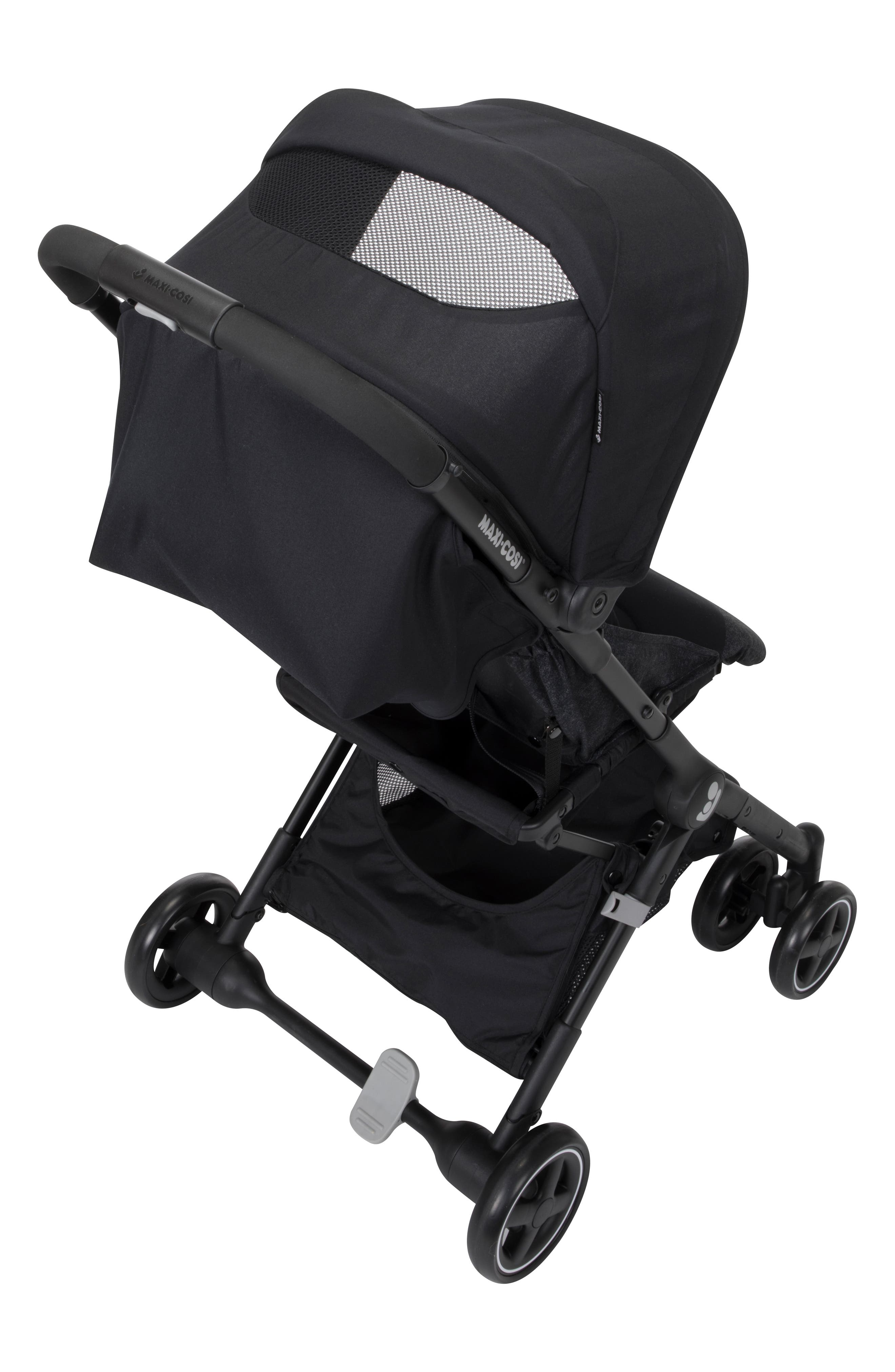 Lara Ultra Compact Stroller,                             Alternate thumbnail 5, color,                             NOMAD BLACK
