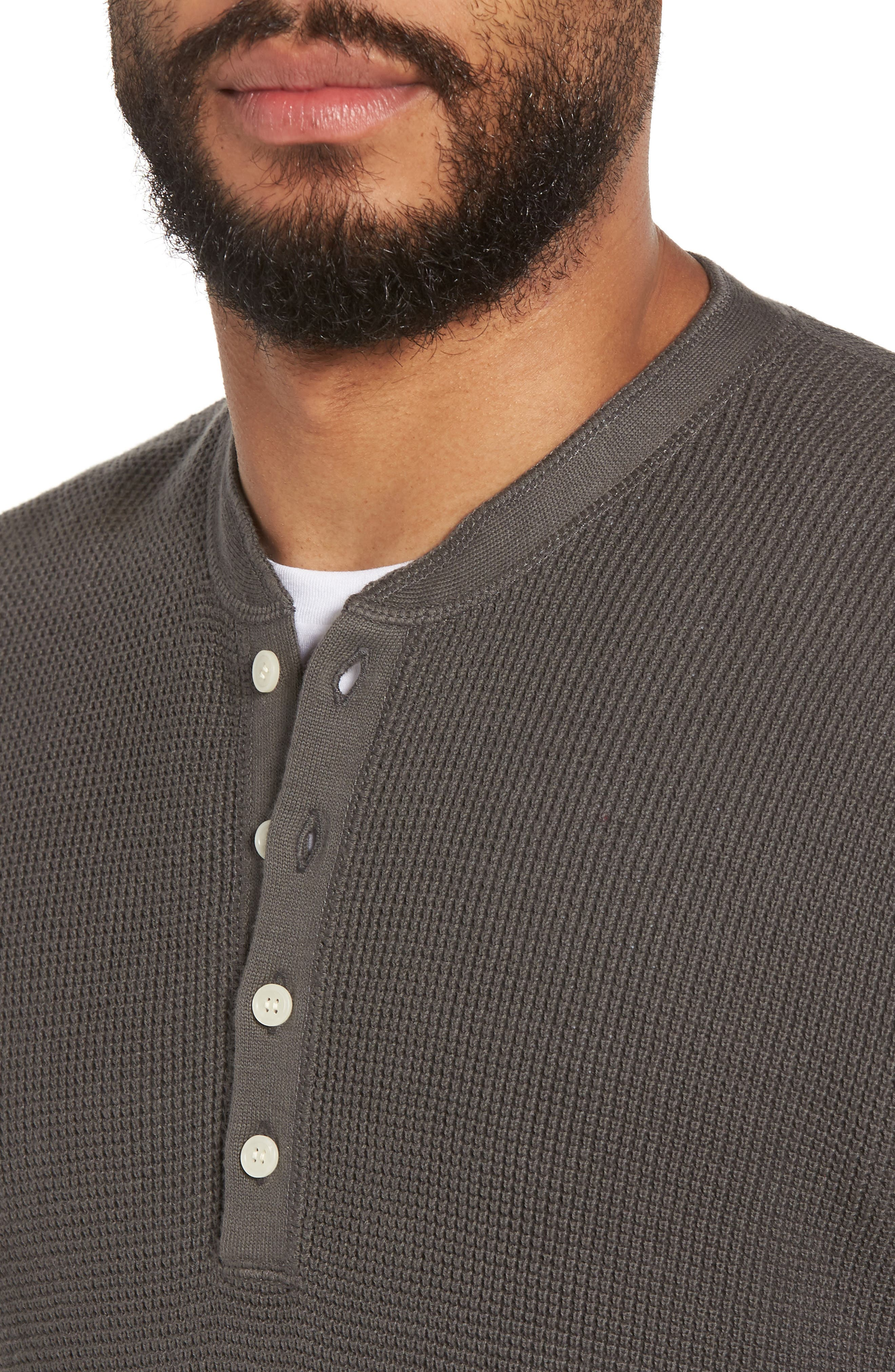 Slim Fit Thermal Henley,                             Alternate thumbnail 4, color,                             020