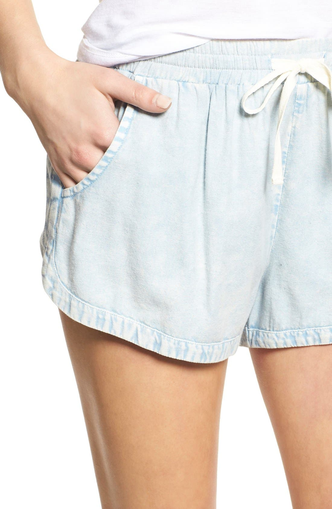 'Road Trippin' Shorts,                             Alternate thumbnail 3, color,                             CHAMBRAY BLUE