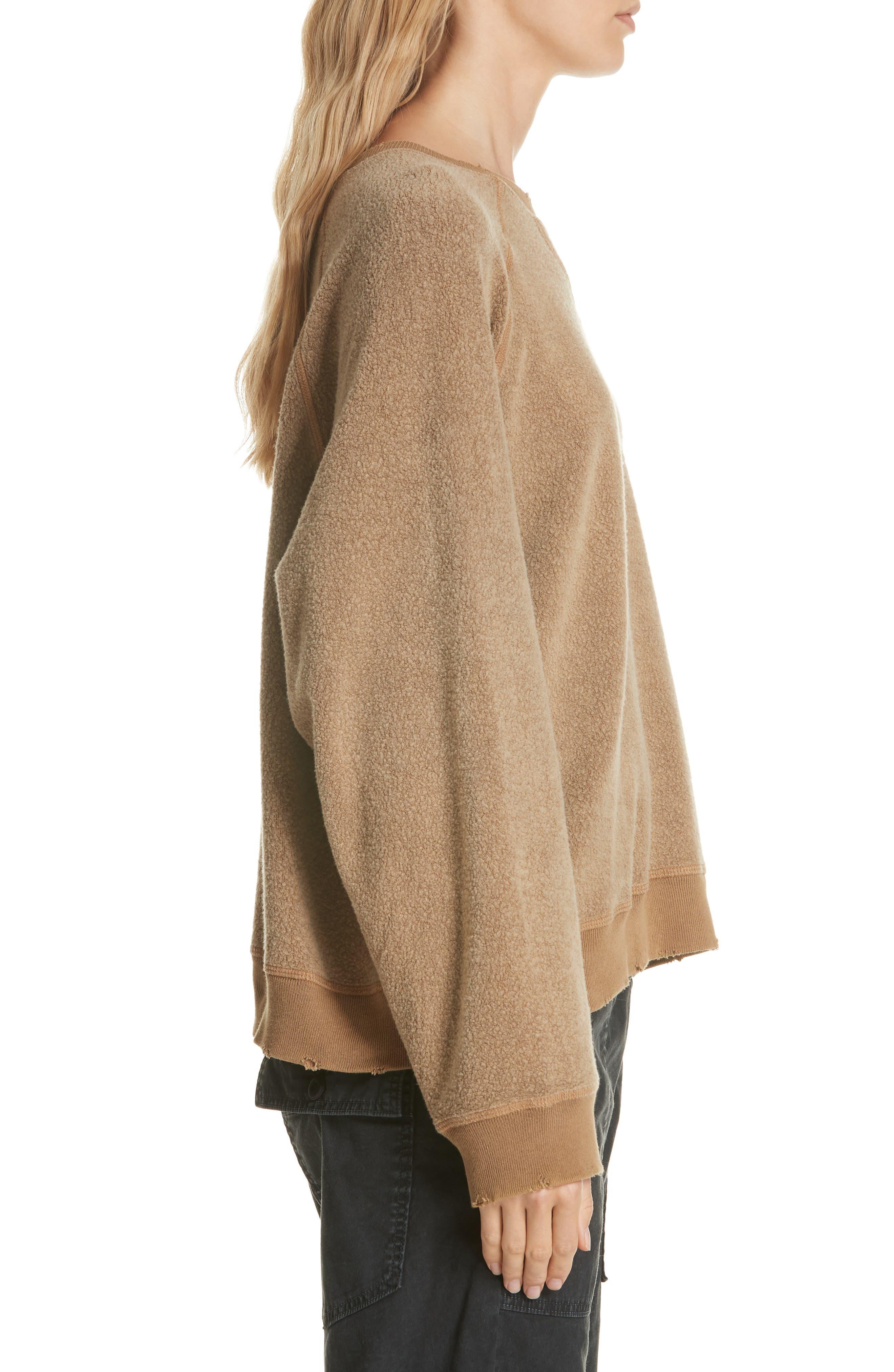 Slouch Sweatshirt,                             Alternate thumbnail 3, color,                             CAMEL