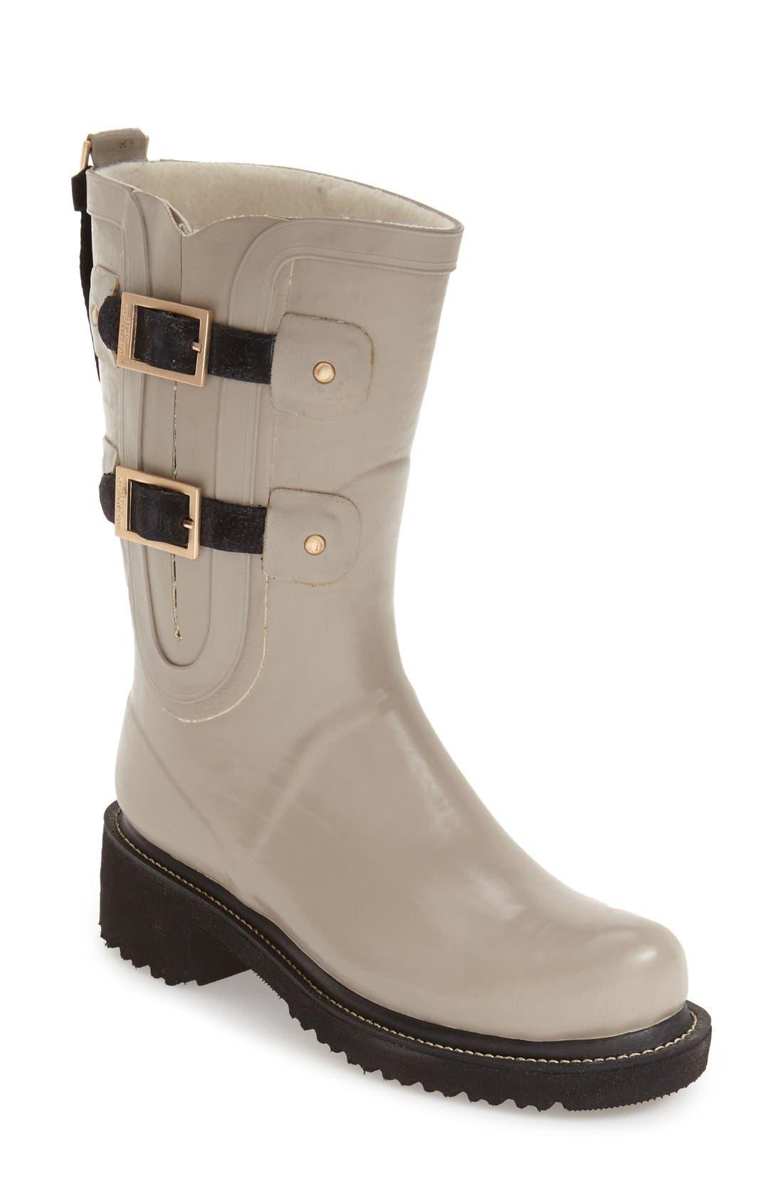 Waterproof Buckle Detail Snow/Rain Boot,                             Main thumbnail 2, color,