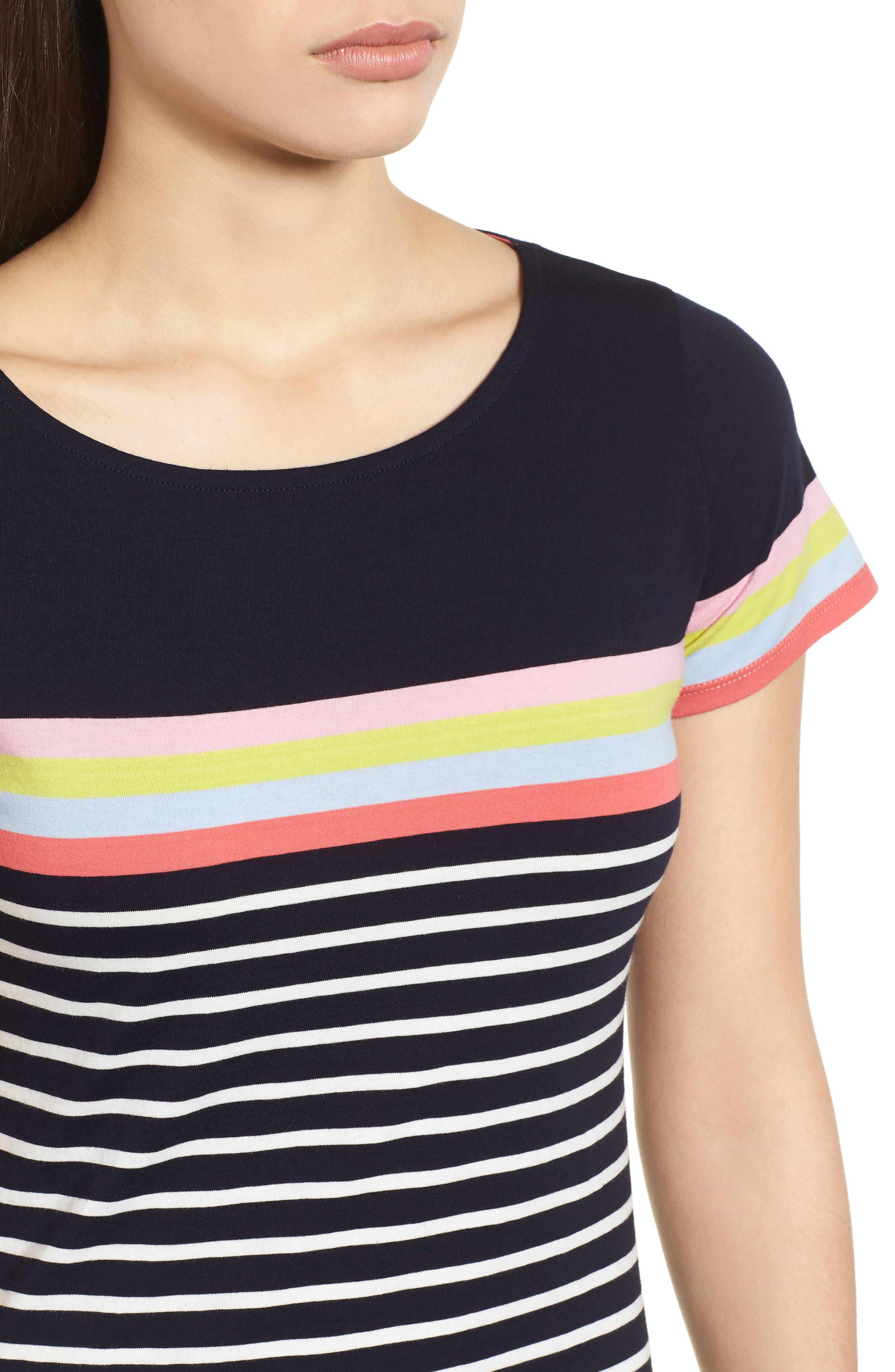 Breton Short Sleeve Stripe Cotton Top,                             Alternate thumbnail 17, color,
