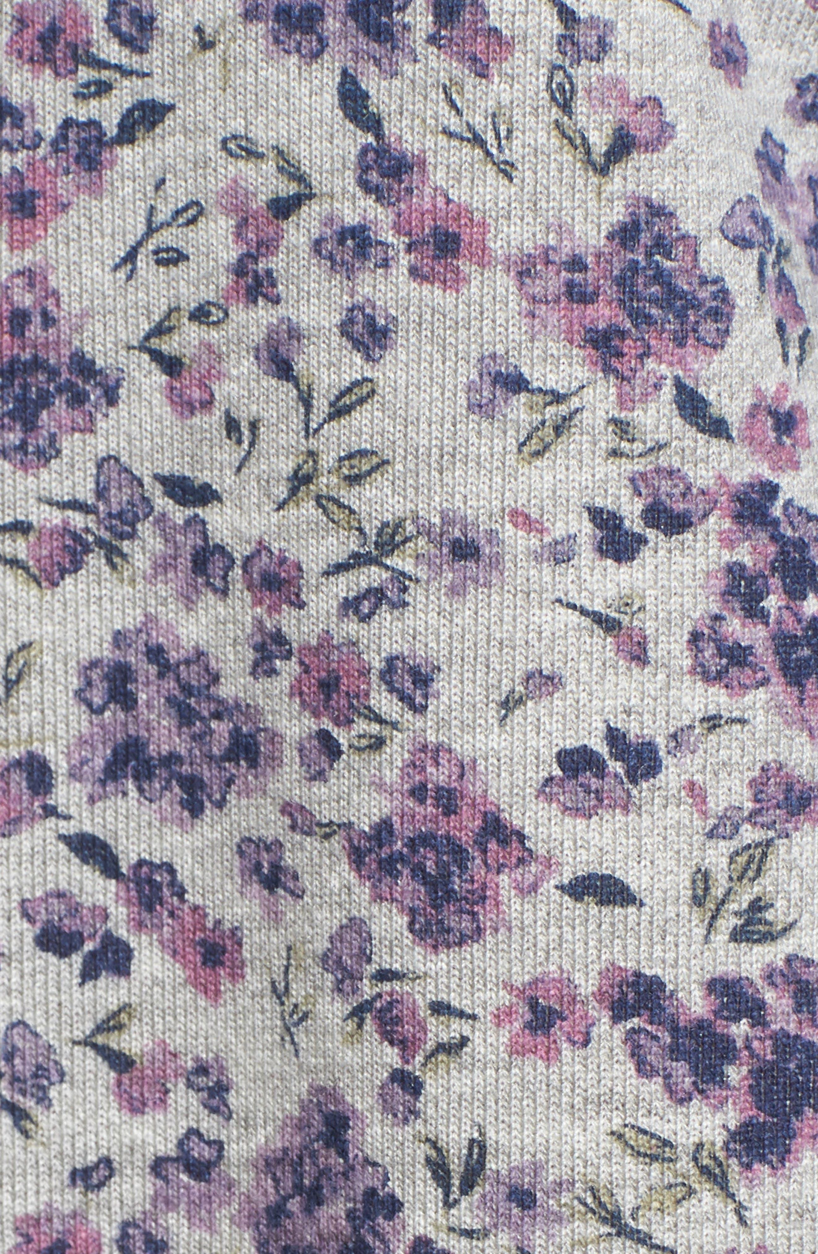 Poplin Cuff Sweatshirt,                             Alternate thumbnail 6, color,                             GREY FLORAL W/ WHITE POPLIN