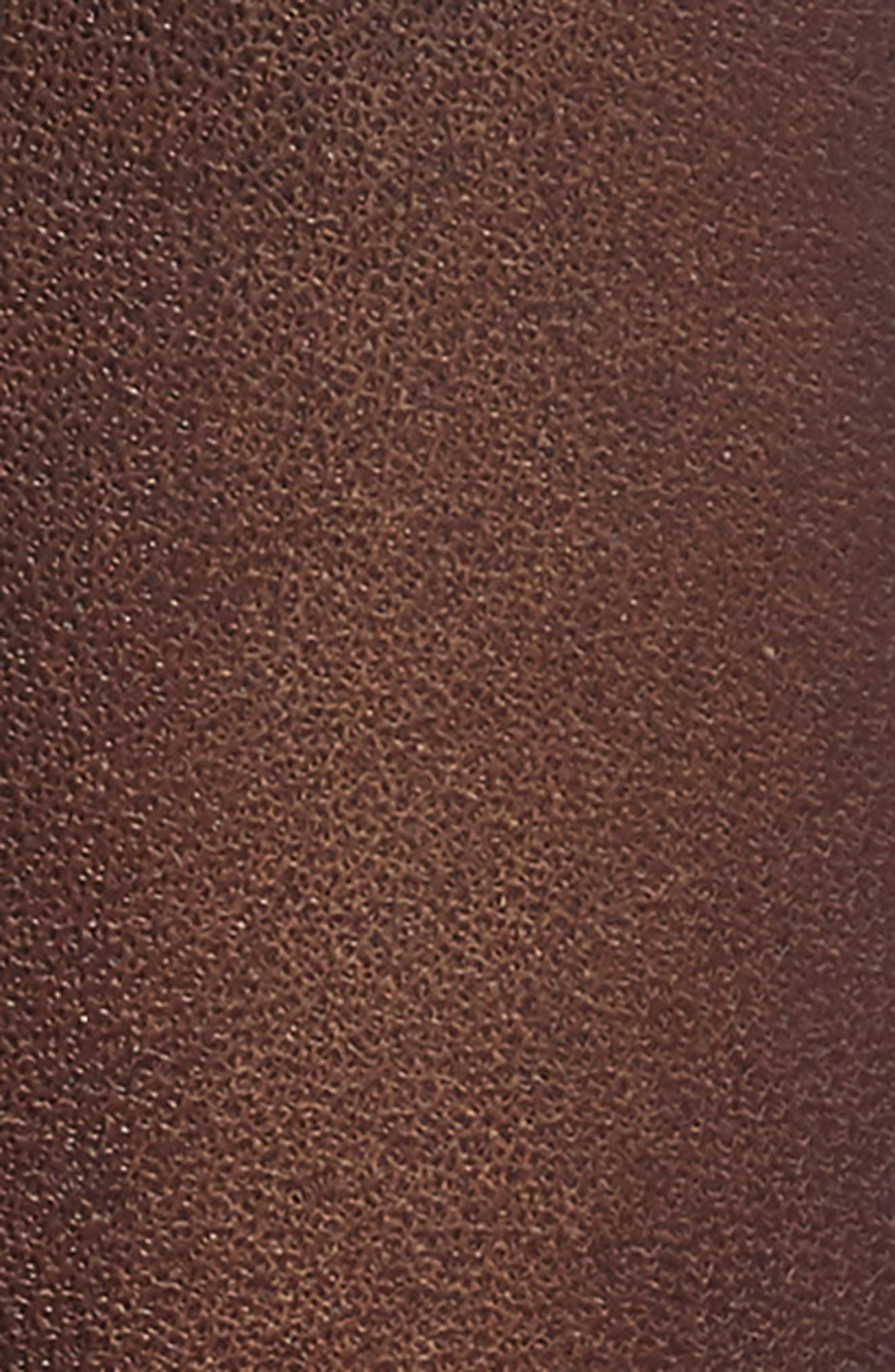 Jet Leather Belt,                             Alternate thumbnail 6, color,