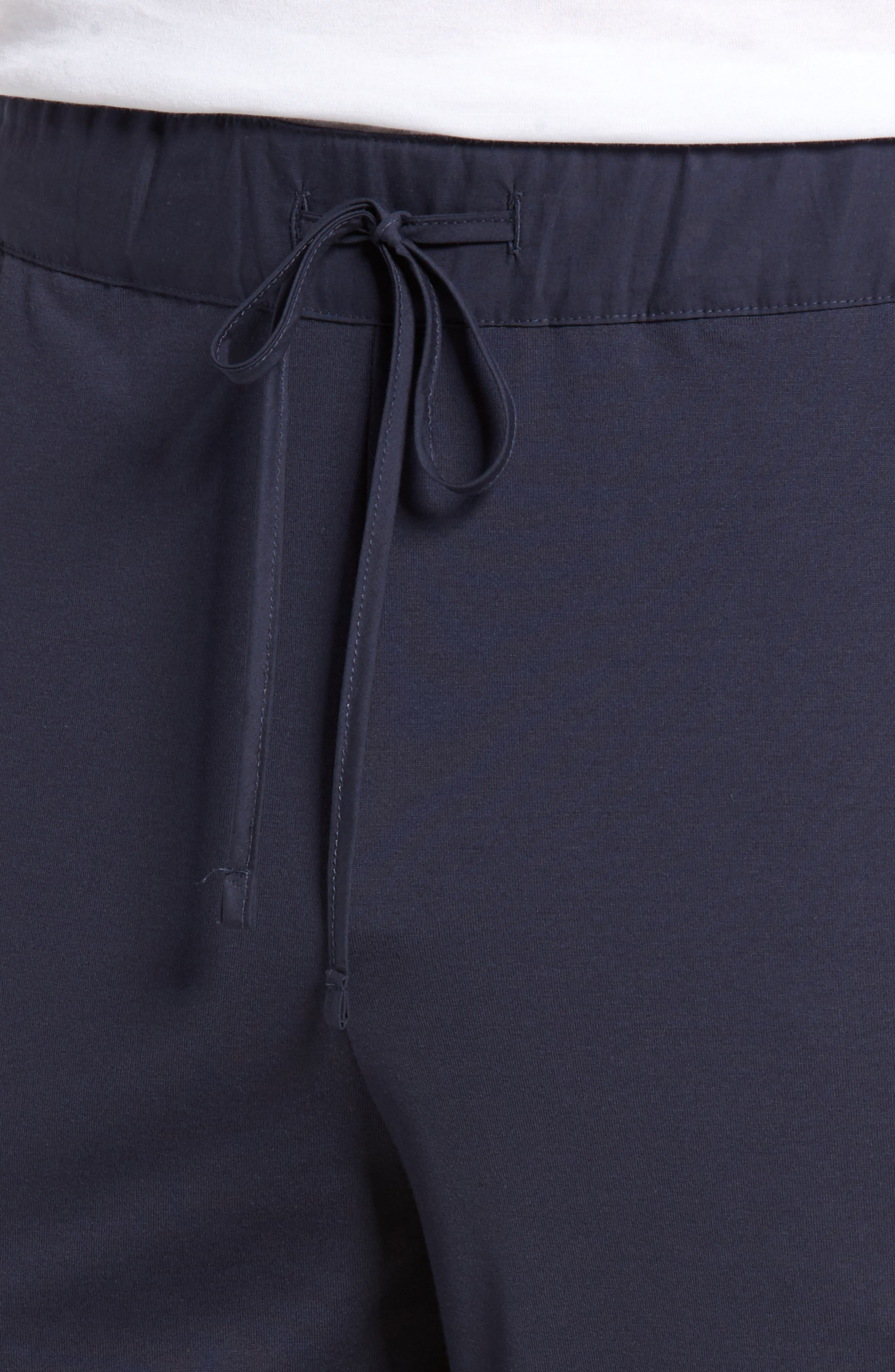 HANRO,                             Night & Day Knit Lounge Pants,                             Alternate thumbnail 4, color,                             BLACK IRIS