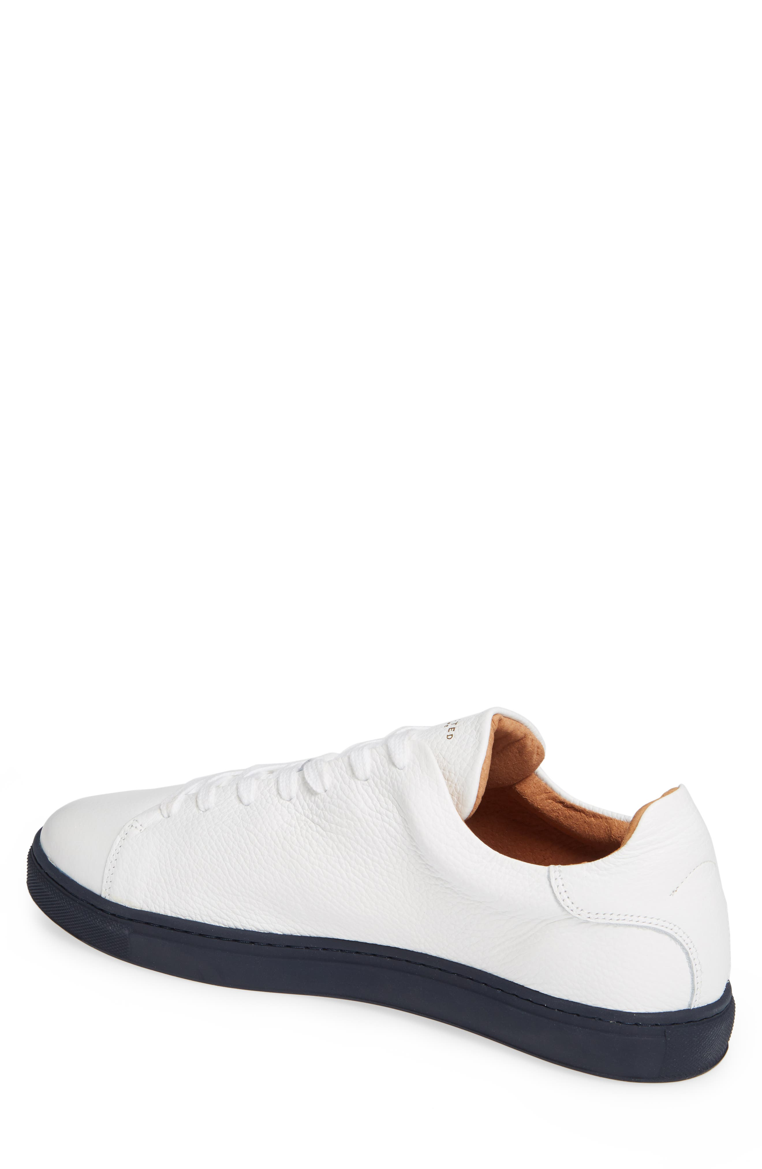 David Sneaker,                             Alternate thumbnail 2, color,                             WHITE/ DARK NAVY SOLE