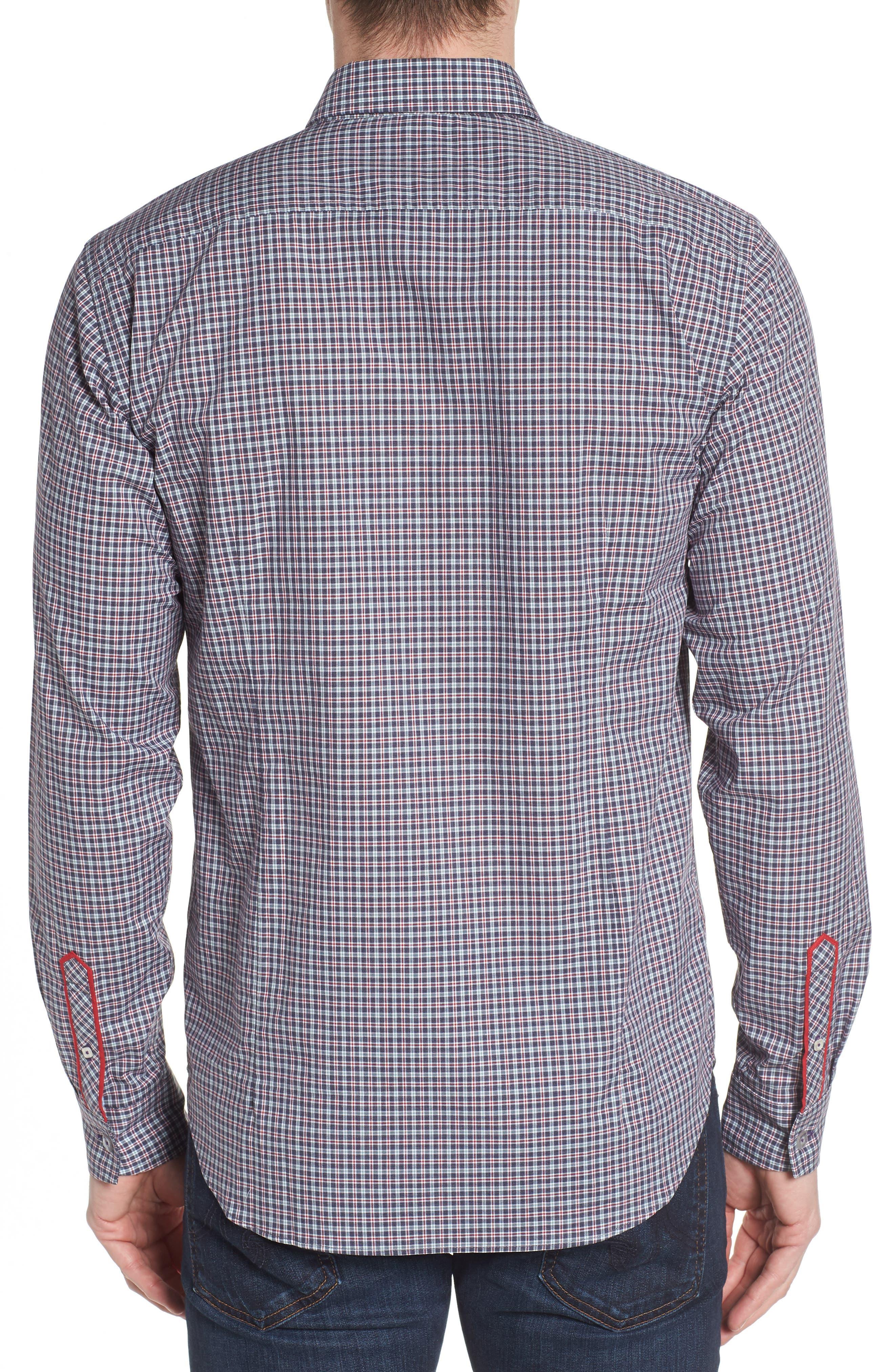 Slim Fit Check Sport Shirt,                             Alternate thumbnail 2, color,                             031