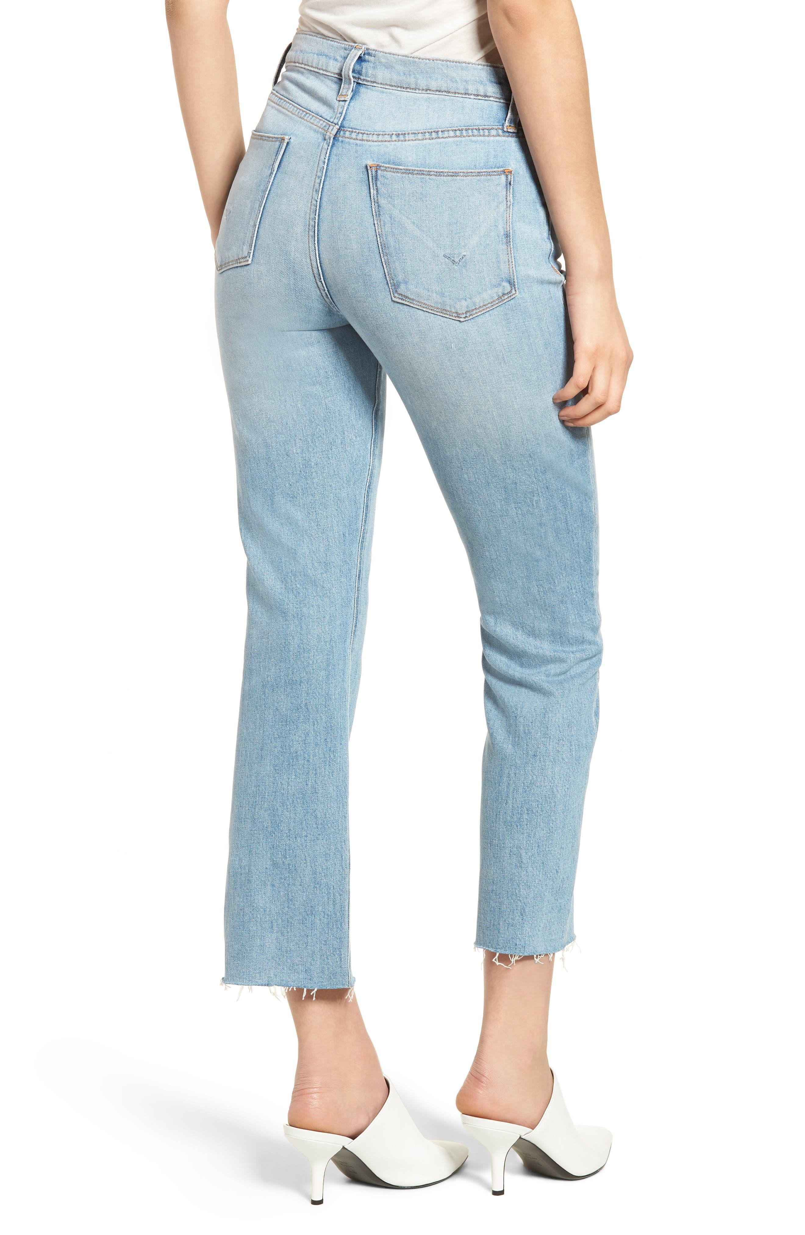 Zoeey Crop Split Hem Straight Leg Jeans,                             Alternate thumbnail 2, color,                             421