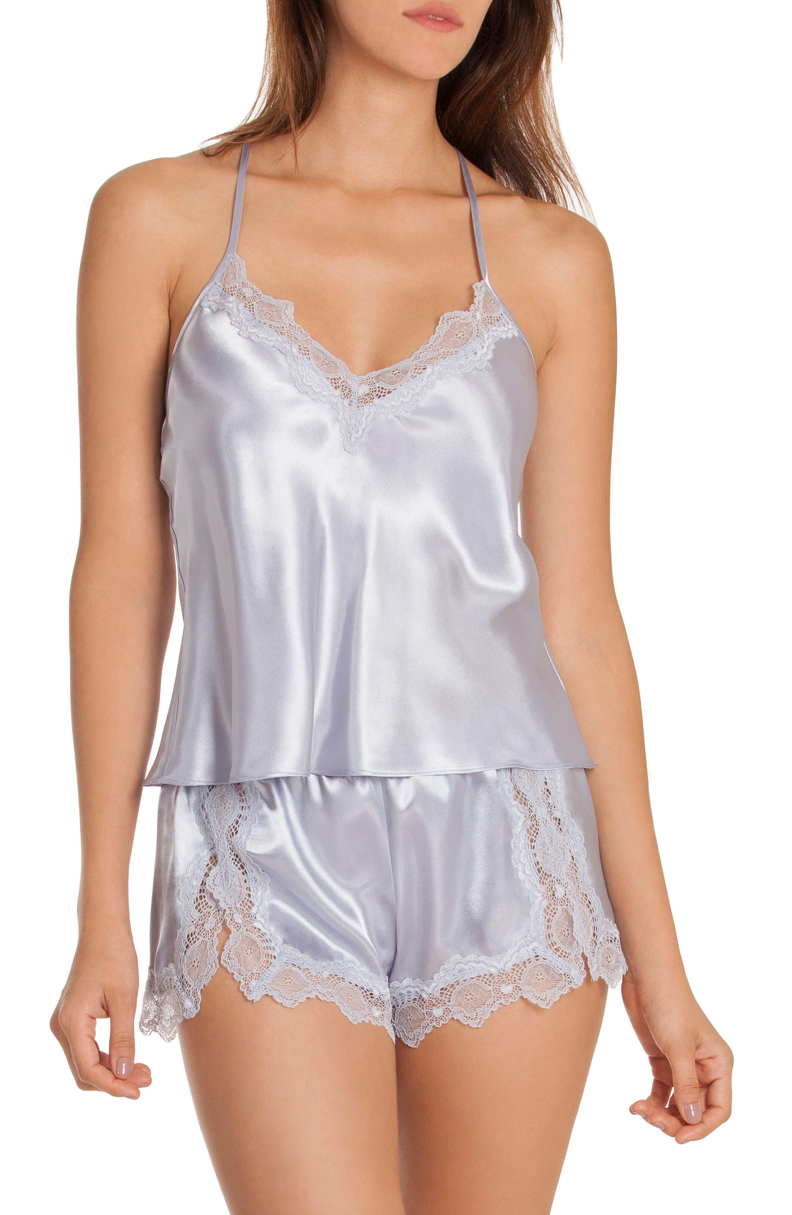 Satin Short Pajamas,                             Main thumbnail 2, color,