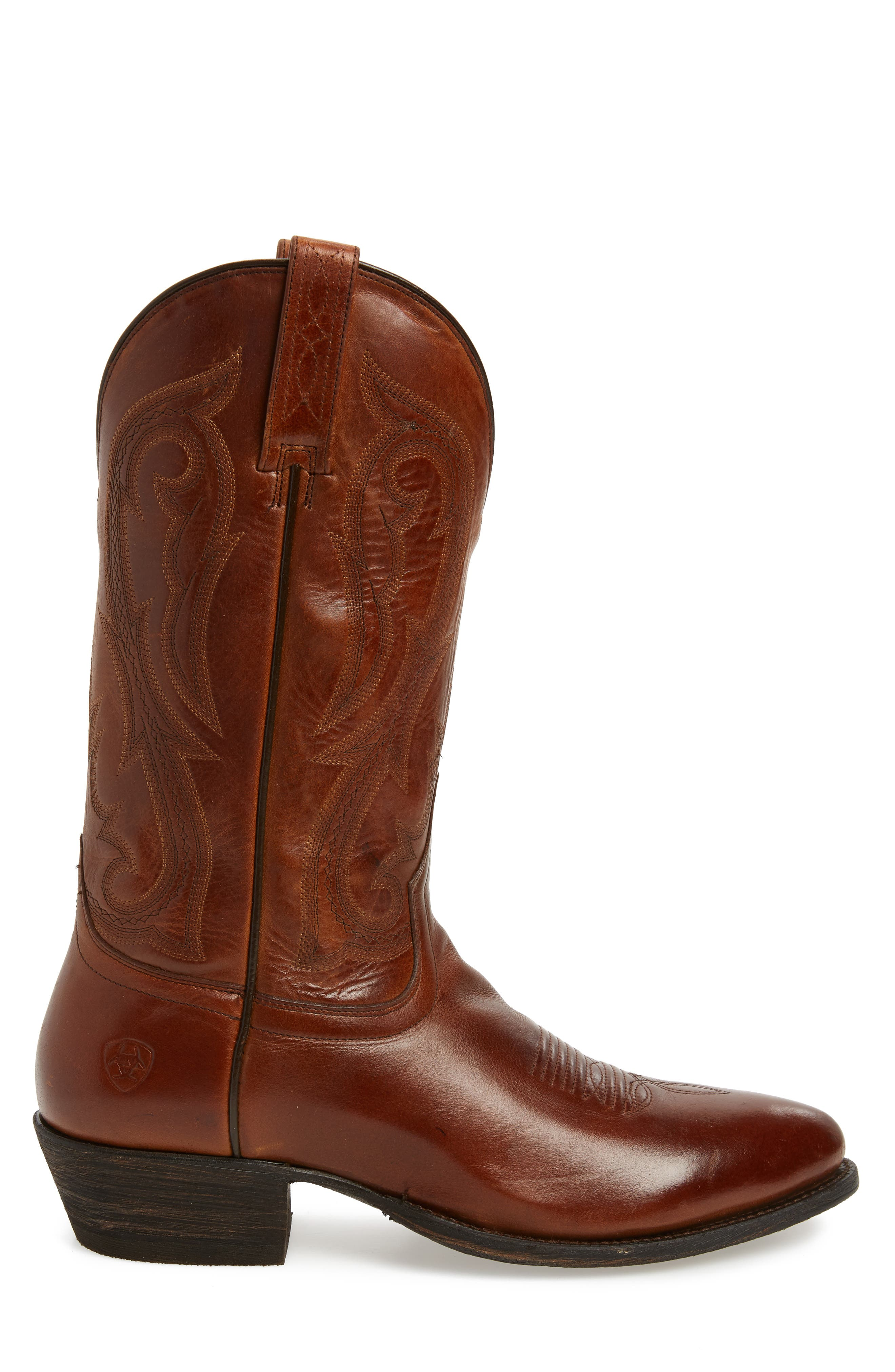 Circuit Tall Cowboy Boot,                             Alternate thumbnail 3, color,                             SPRUCED COGNAC LEATHER