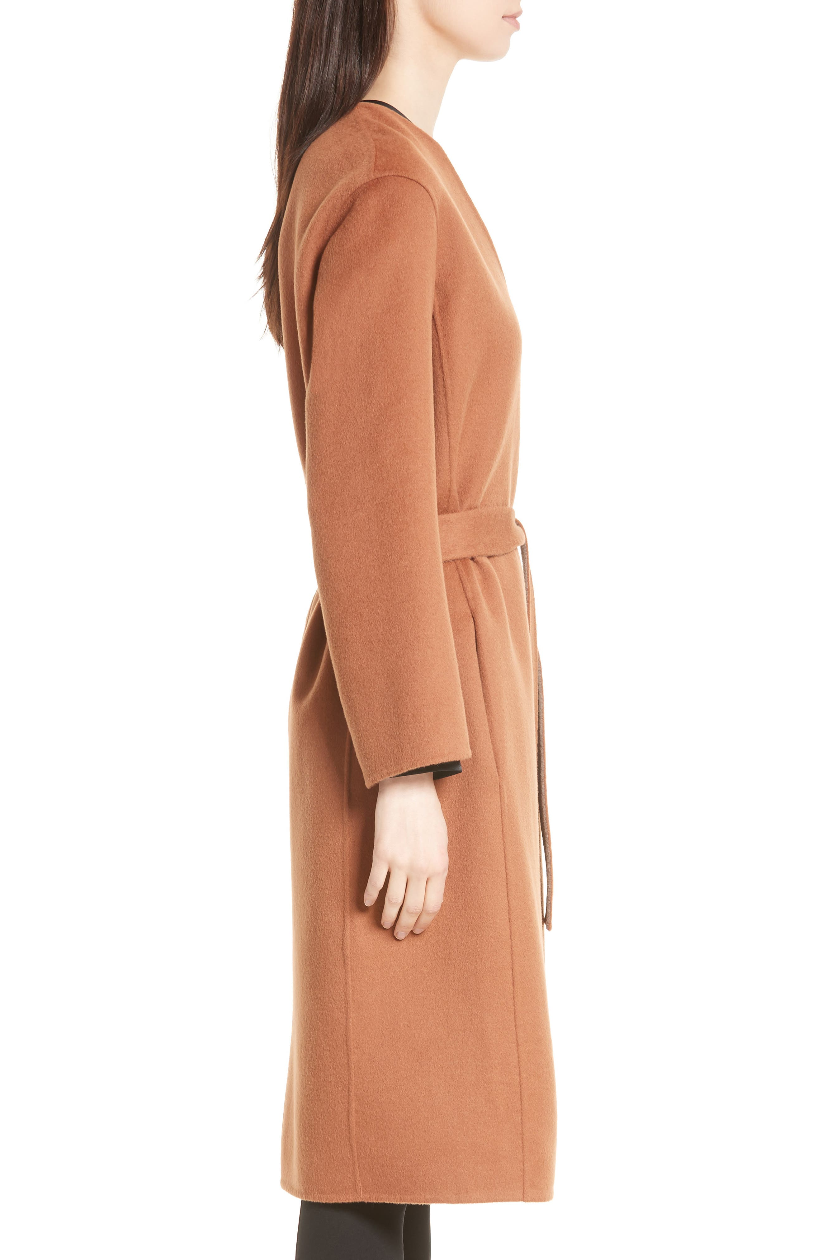 Reversible Wool & Cashmere Belted Coat,                             Alternate thumbnail 8, color,