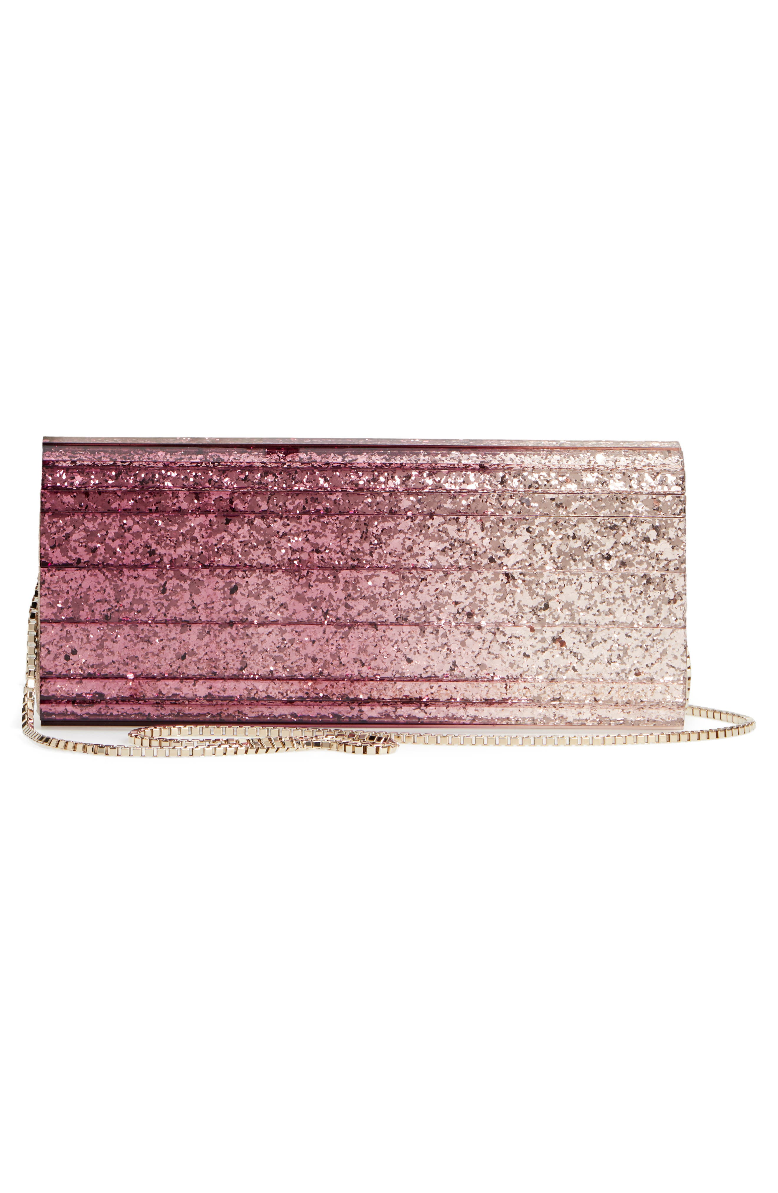 'Sweetie' Clutch,                             Alternate thumbnail 3, color,                             CHAMPAGNE/ GRAPE