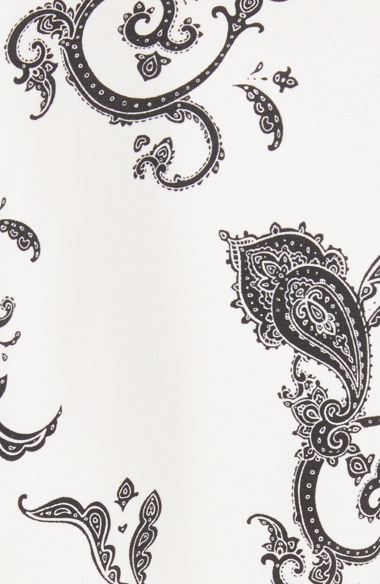 Lauren Print Silk Dress,                             Alternate thumbnail 5, color,                             904