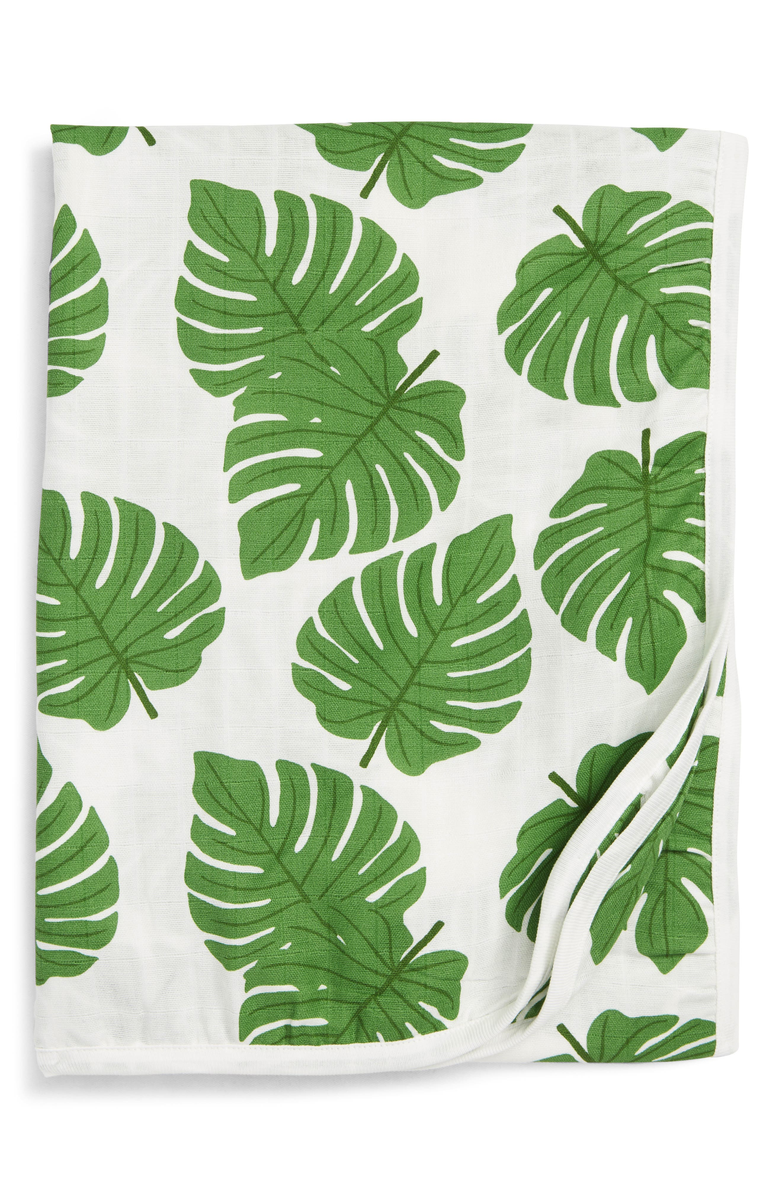 Under the Palms Organic Cotton Always Blanket,                         Main,                         color, UNDER THE PALMS