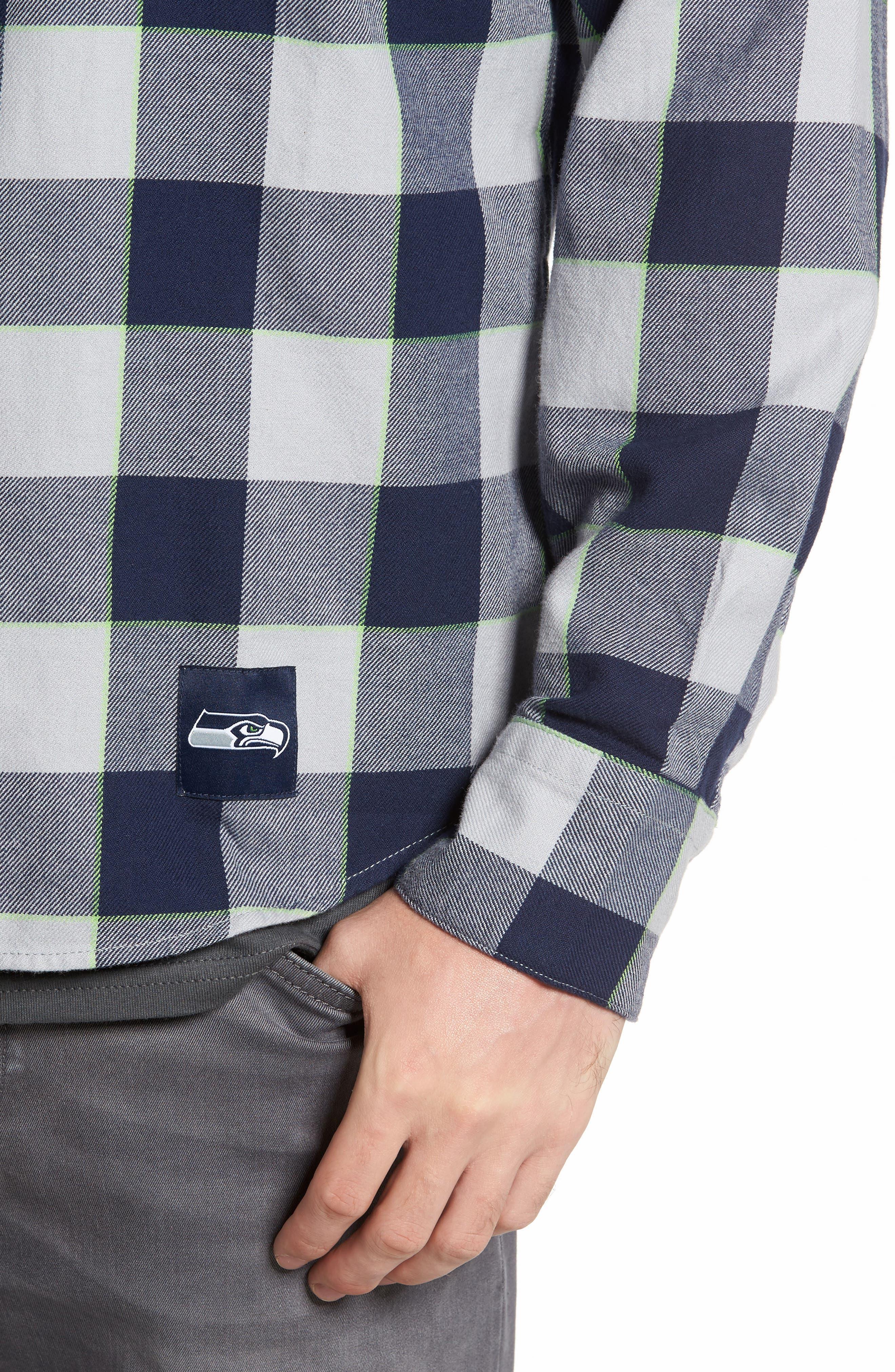 NFL Seahawks - Barstow Plaid Western Shirt,                             Alternate thumbnail 4, color,