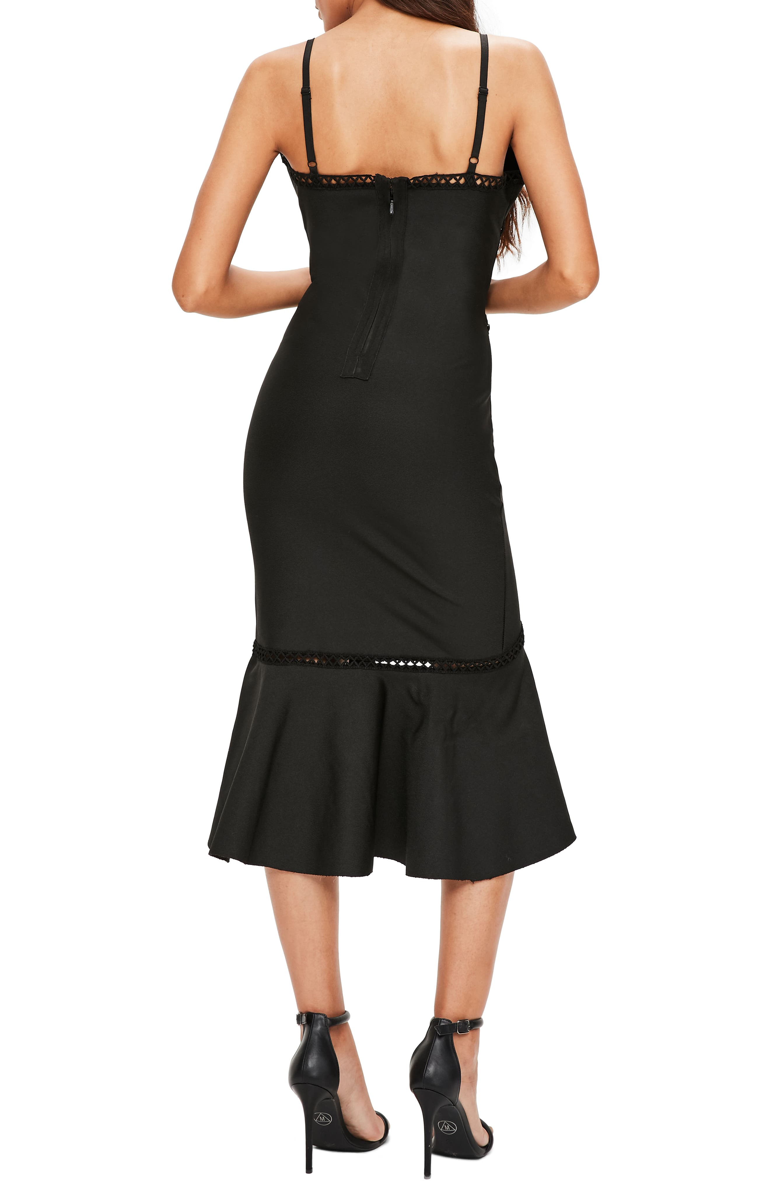 Midi Body-Con Dress,                             Alternate thumbnail 2, color,