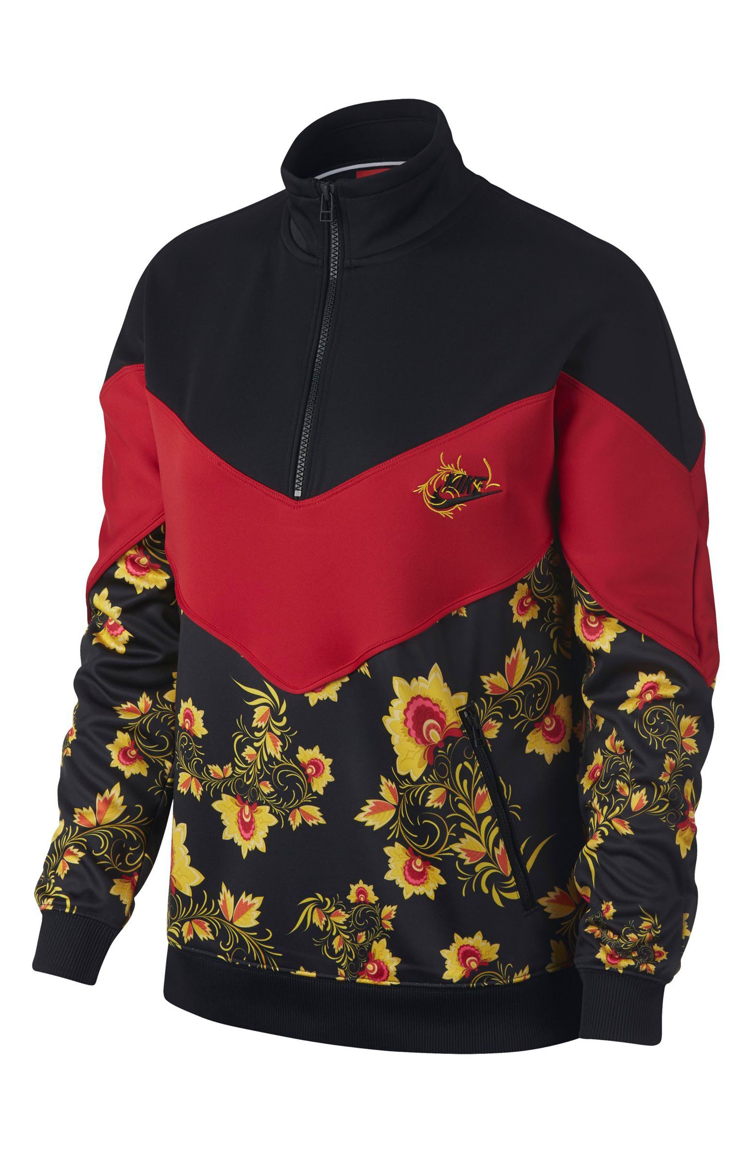 NIKE,                             Sportswear Women's Half Zip Jacket,                             Main thumbnail 1, color,                             010