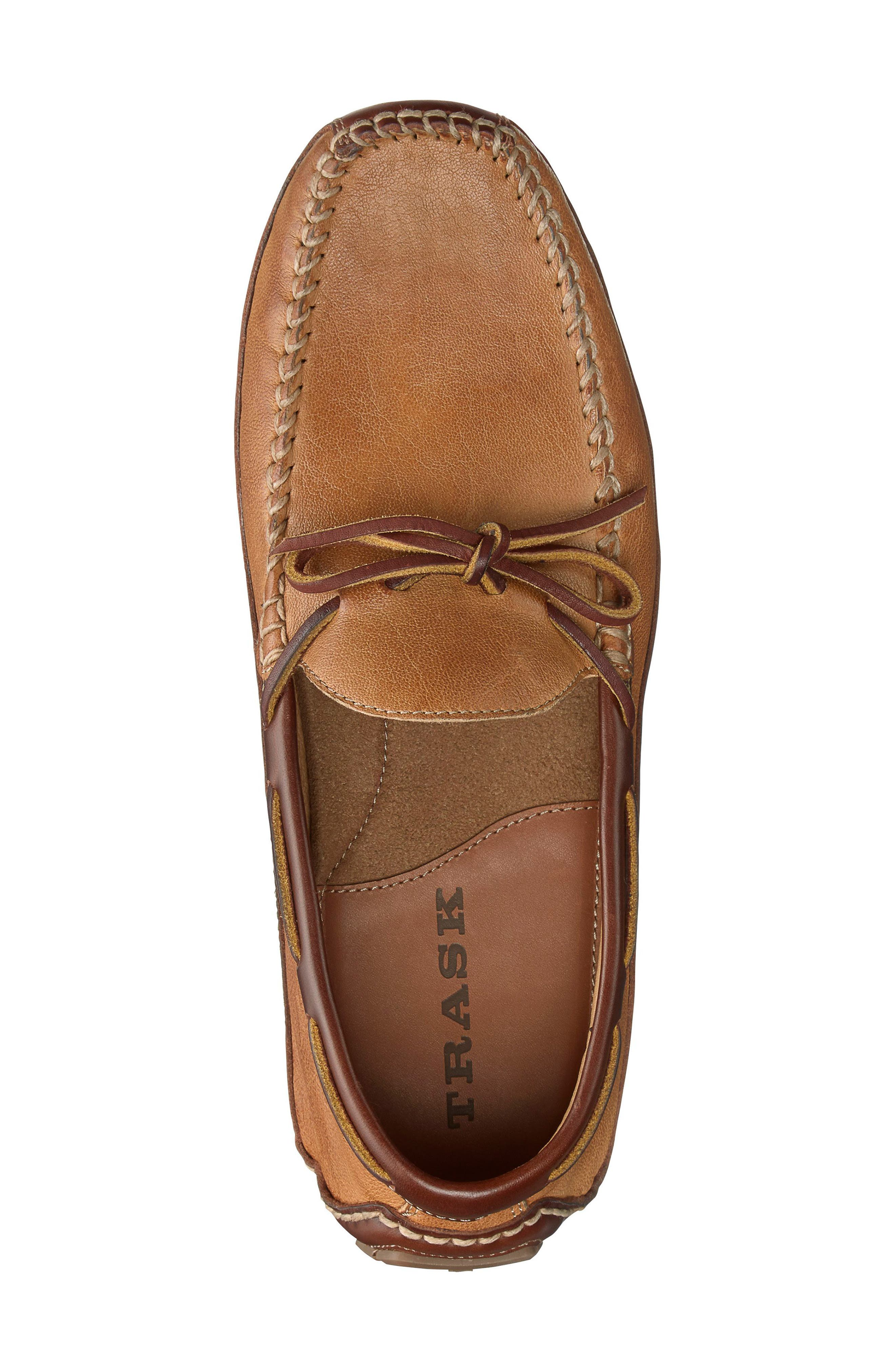 'Drake' Leather Driving Shoe,                             Alternate thumbnail 3, color,                             TAN LEATHER