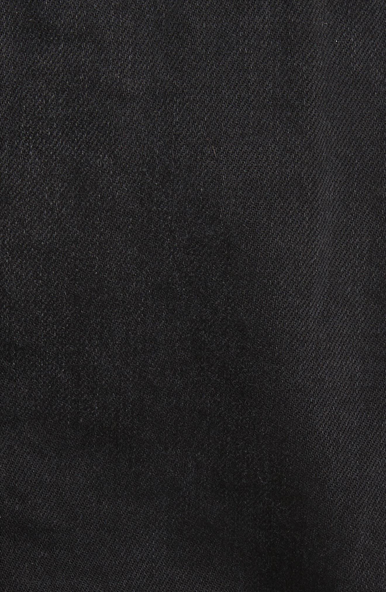 Le Sherpa Denim Jacket,                             Alternate thumbnail 6, color,                             001