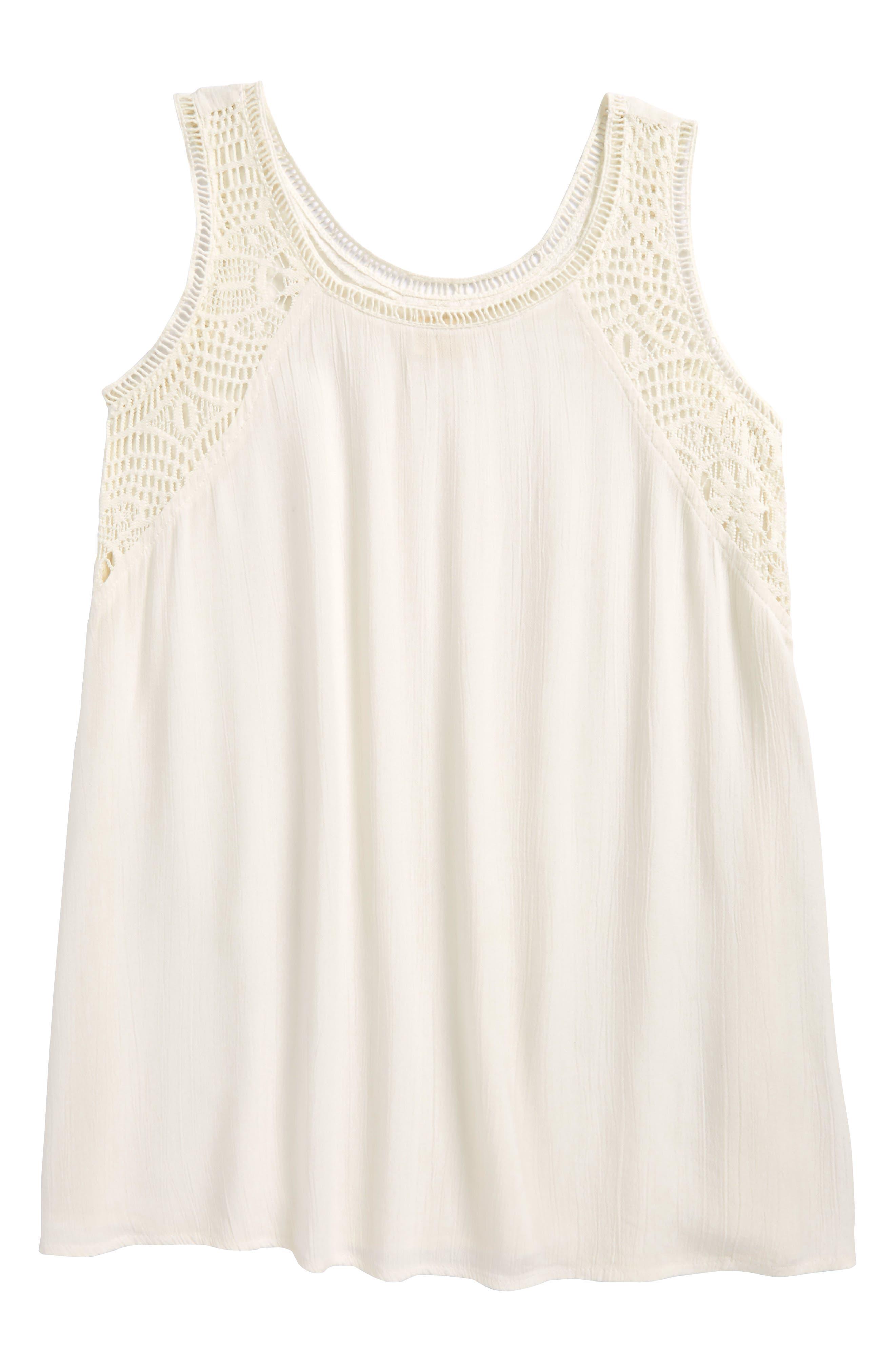 Addilyn Crochet Cover-Up Dress,                             Alternate thumbnail 6, color,
