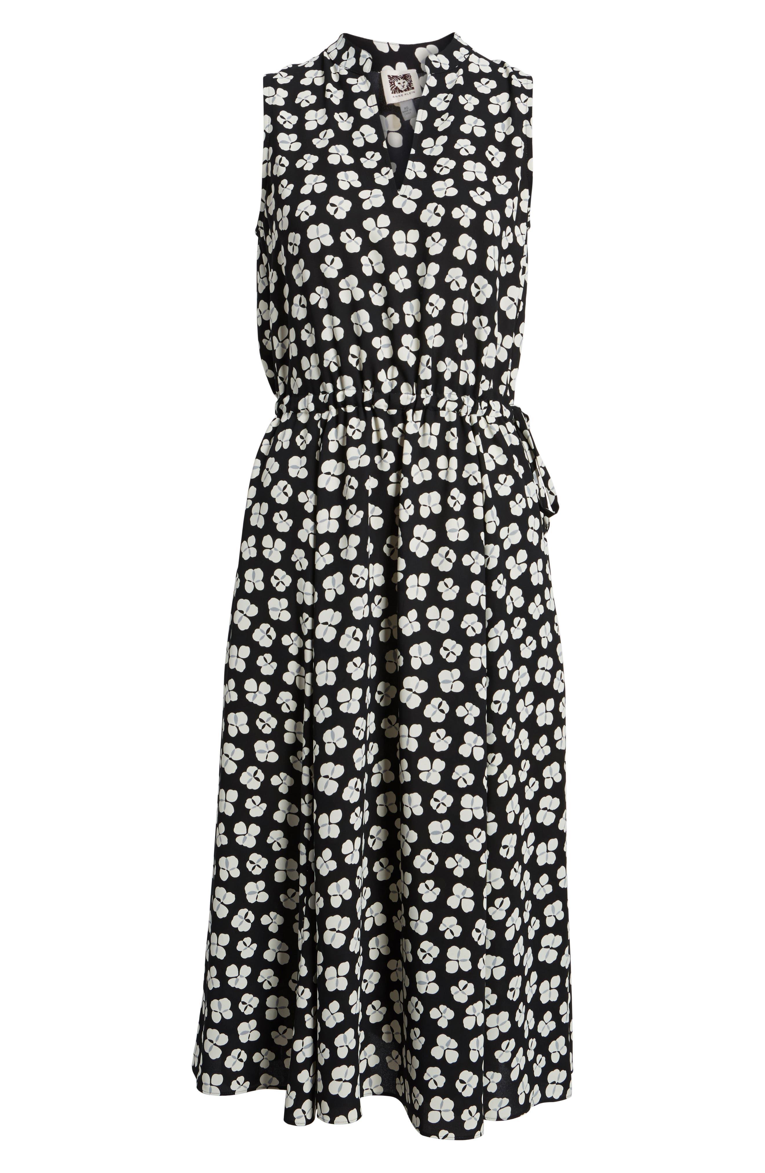 Zuma Petal Drawstring Midi Dress,                             Alternate thumbnail 7, color,                             001