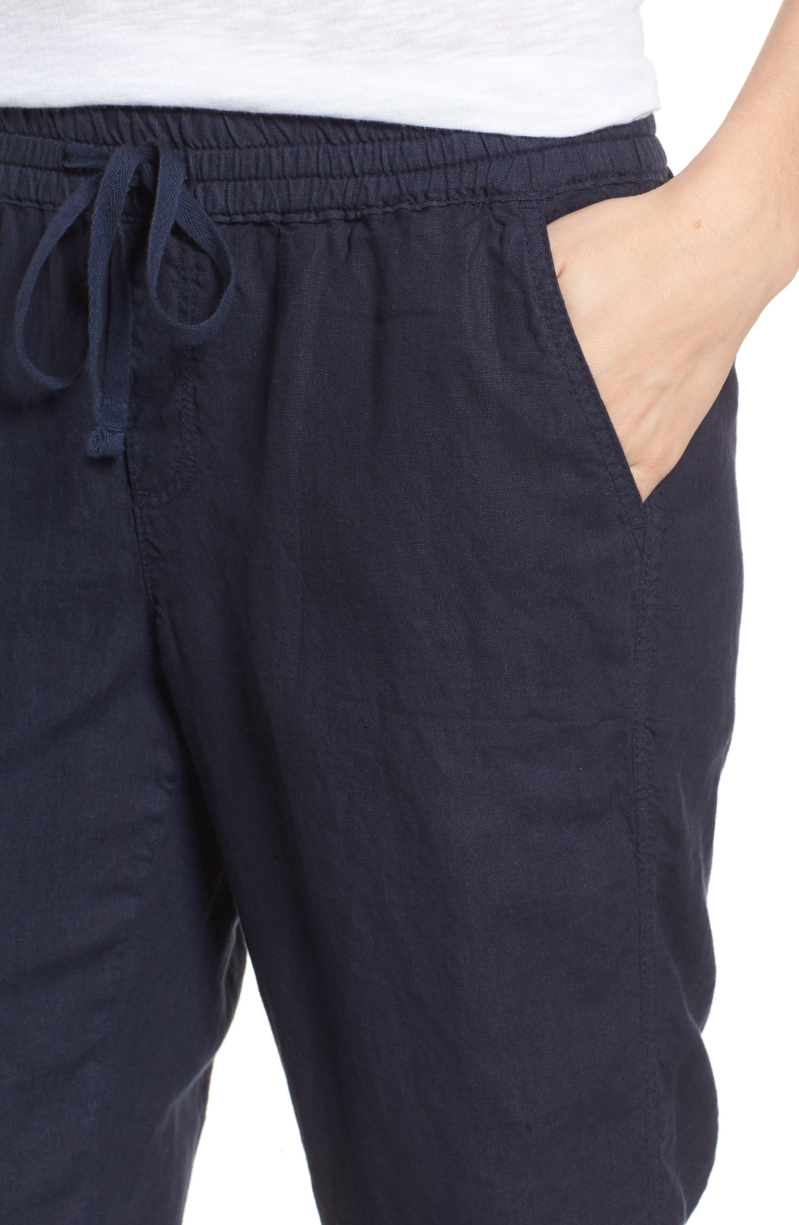 Linen Crop Pants,                             Alternate thumbnail 27, color,