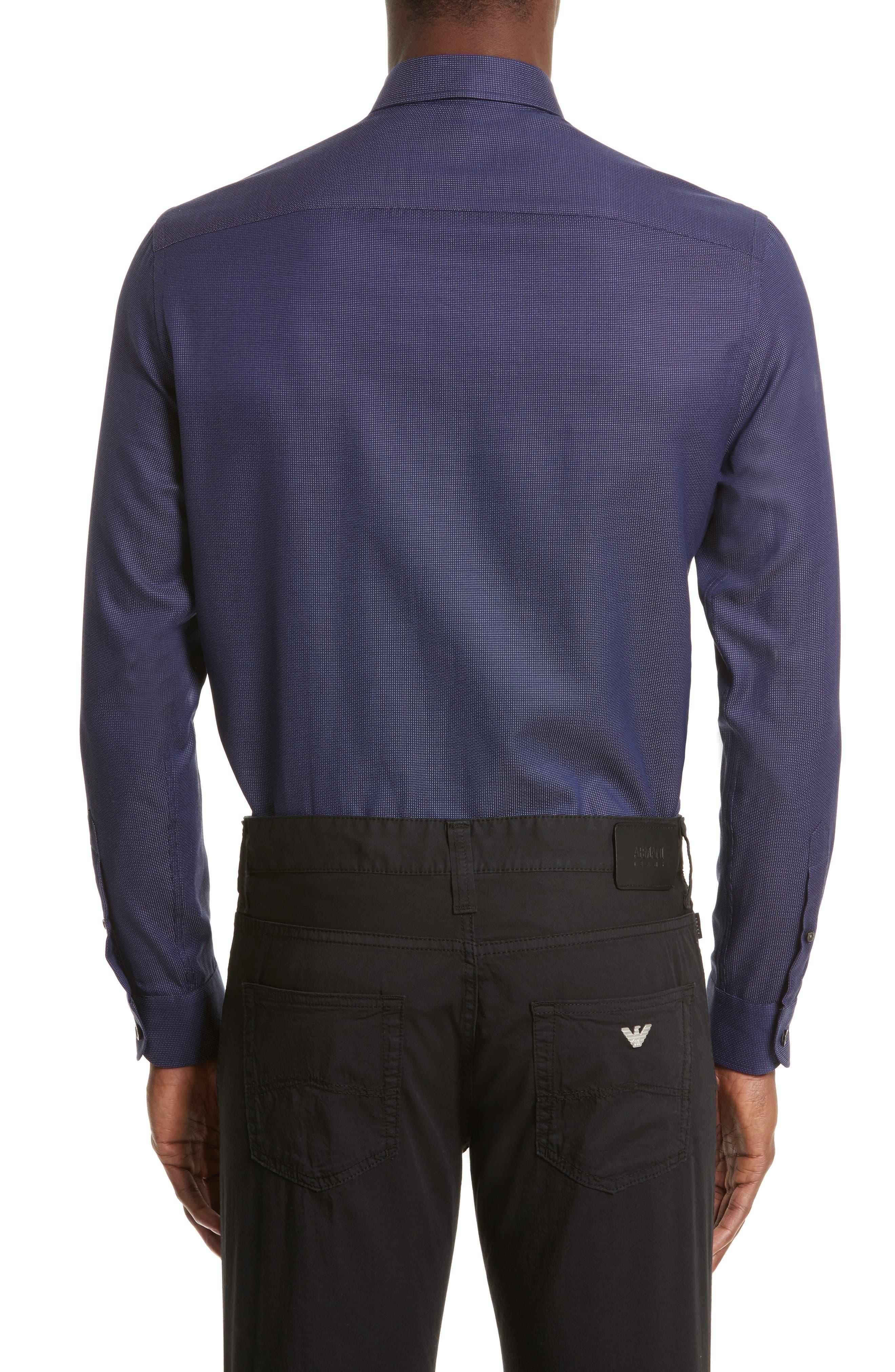 Regular Fit Pin Dot Print Sport Shirt,                             Alternate thumbnail 2, color,                             417