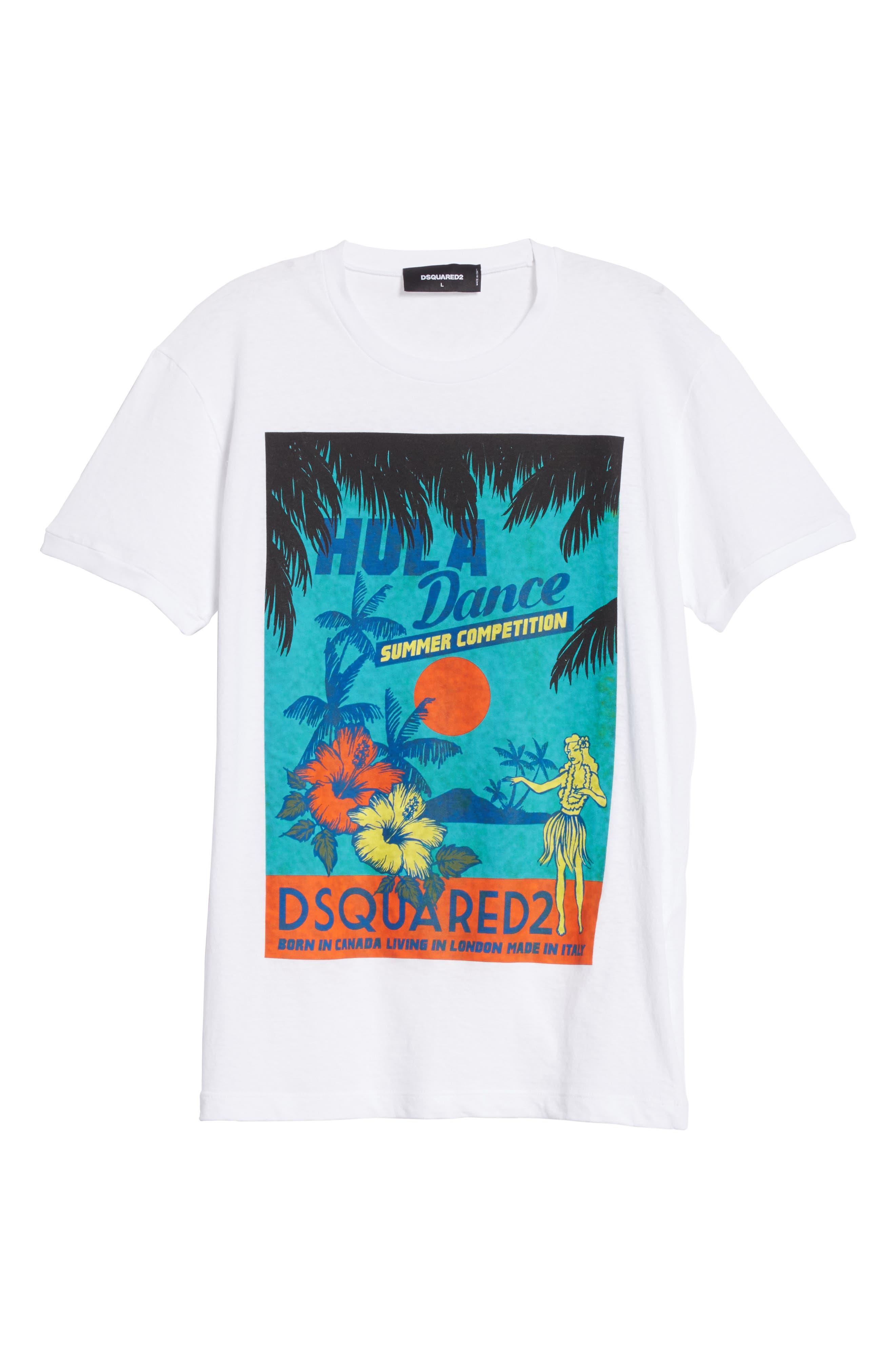 Hula Graphic T-Shirt,                             Alternate thumbnail 6, color,                             100